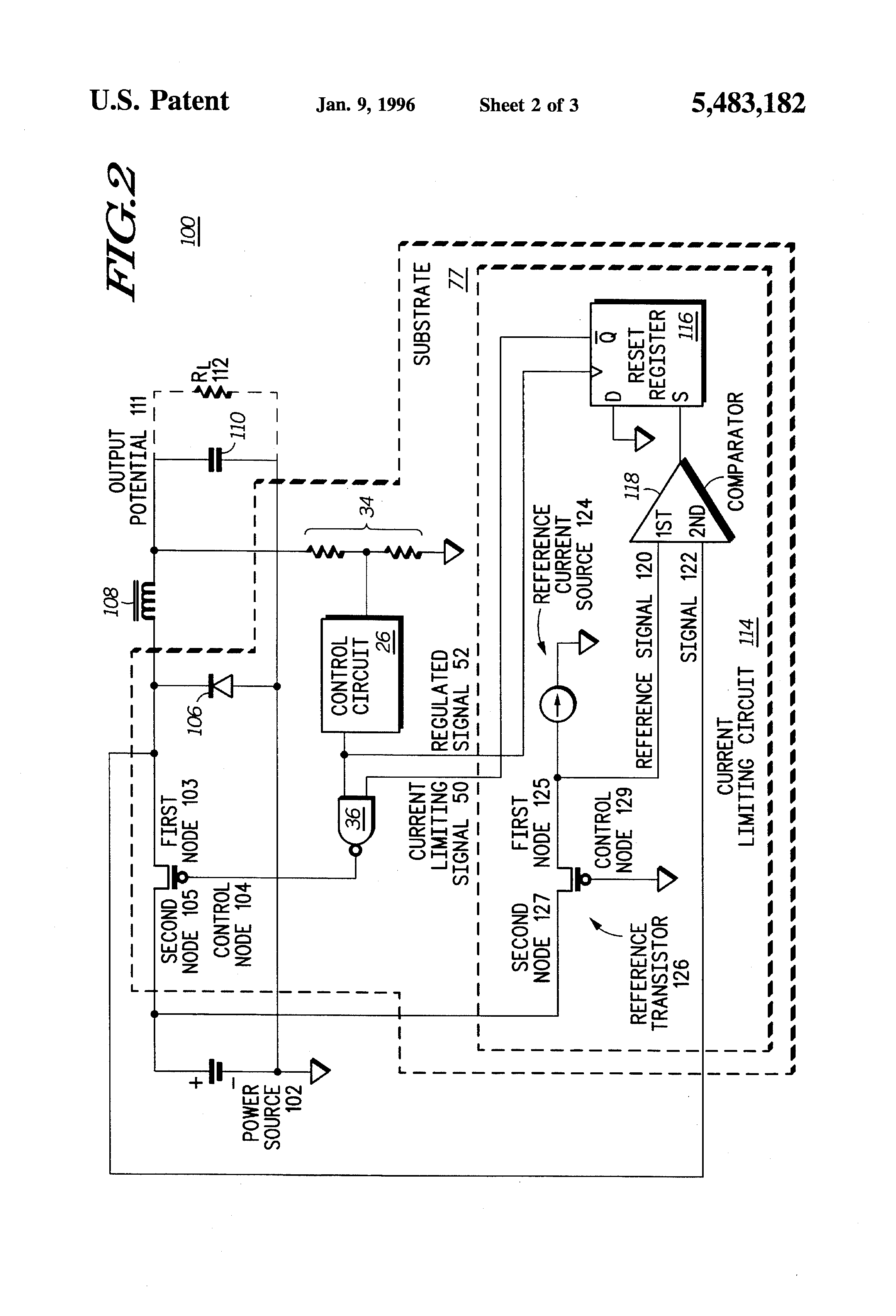 Patent Us5483182 Method And Apparatus For A Dc Converter An Transistor Current Source Drawing