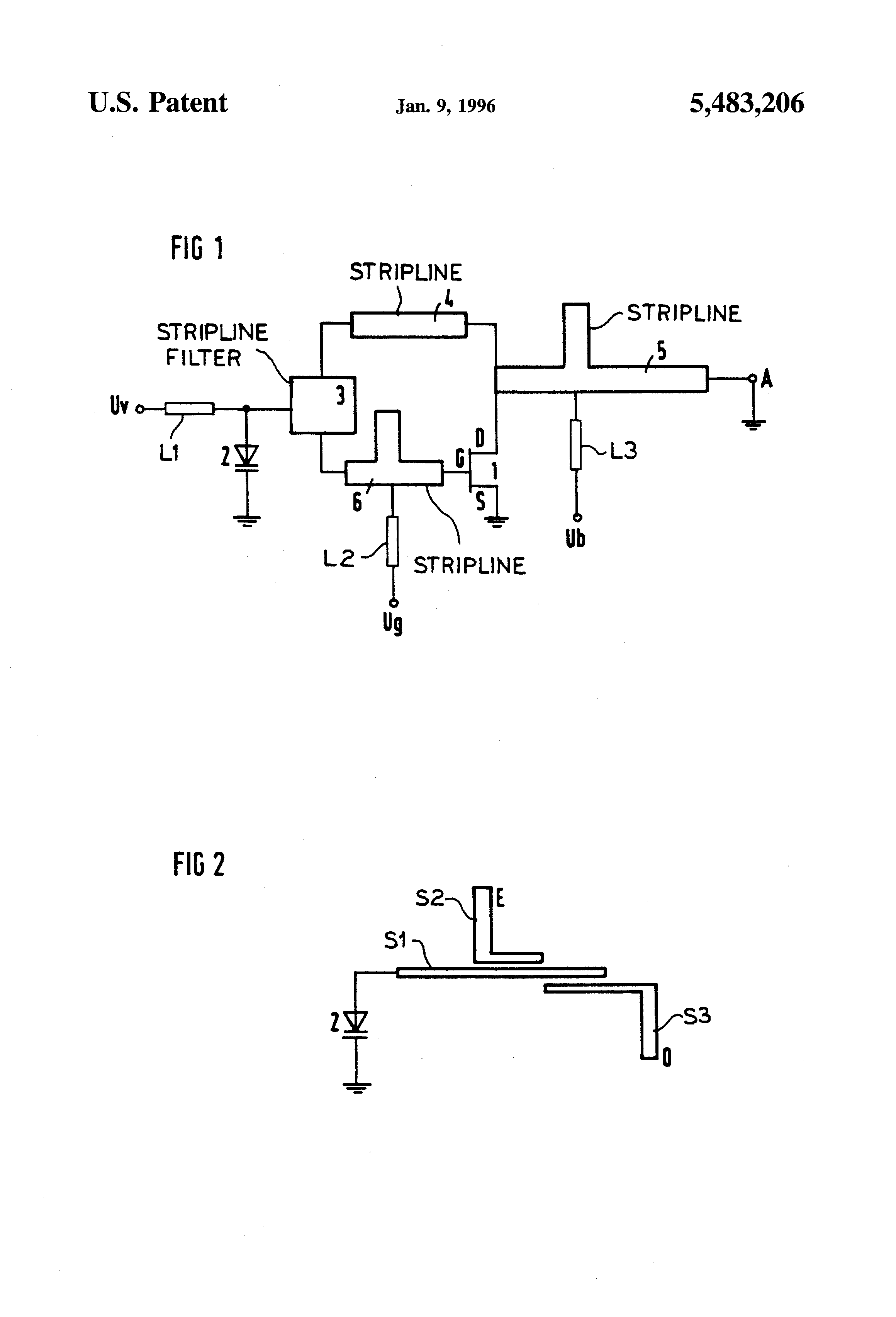 Patent Us5483206 Voltage Controlled Microwave Oscillator With 12ghz Vco Linear Modulation Drawing