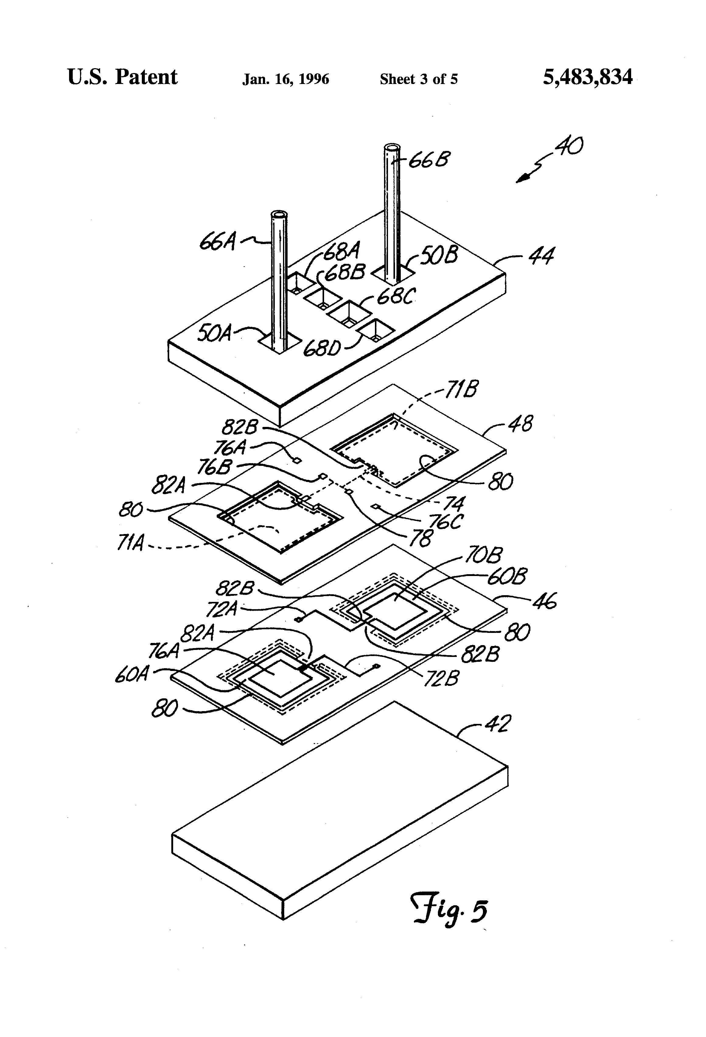 patent us5483834 - suspended diaphragm pressure sensor