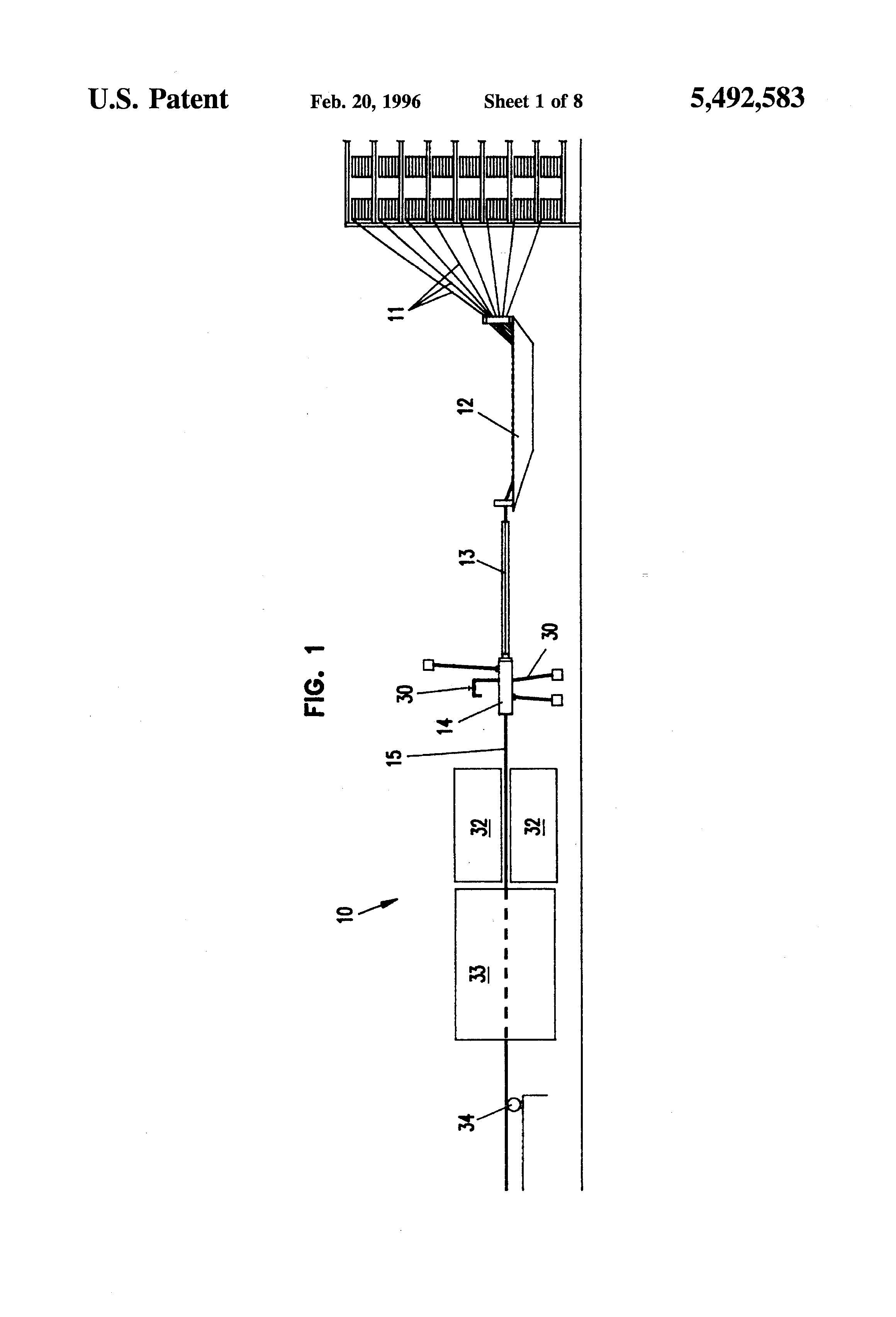 Patent US5492583 - Apparatus and method for in-line coating
