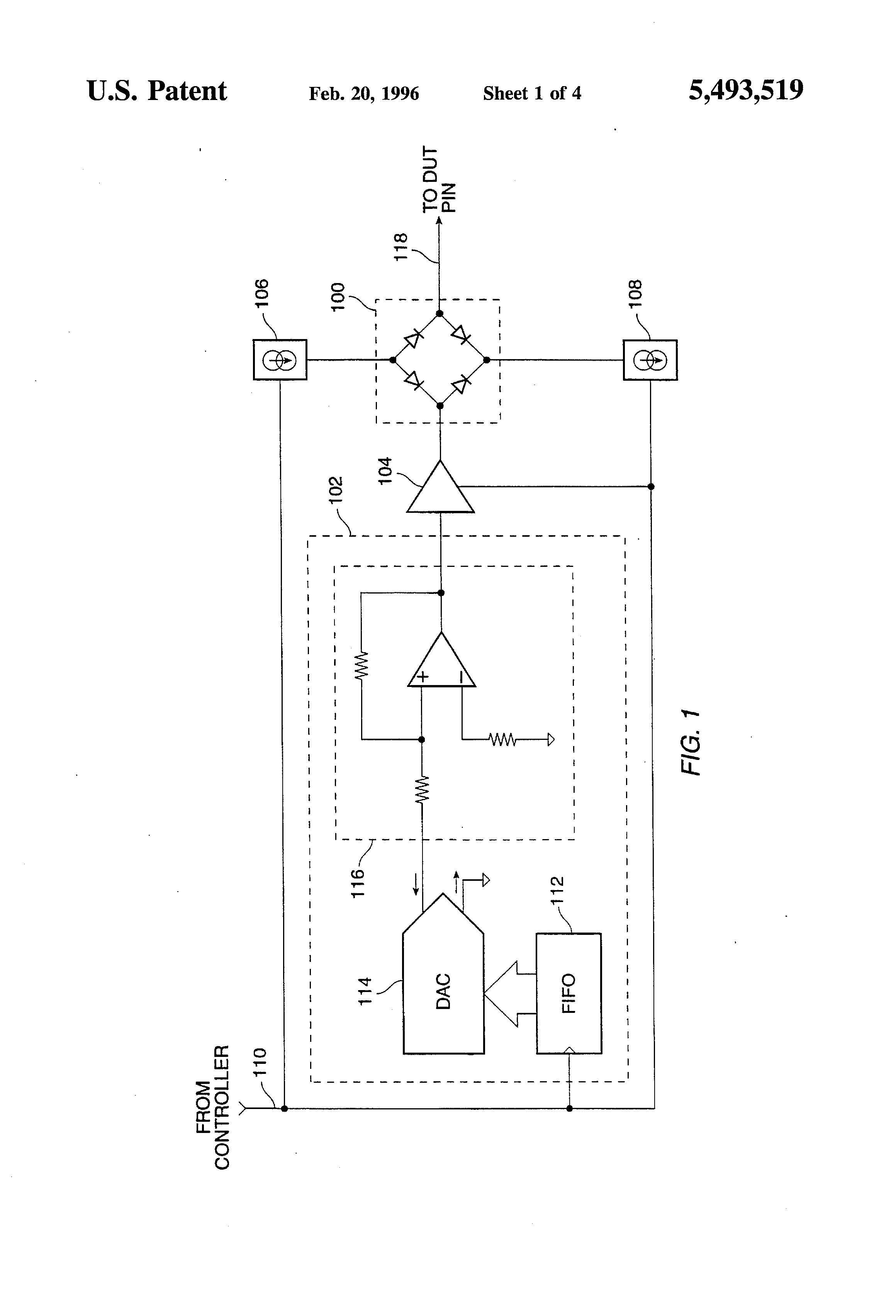 High Voltage Tester Circuit Diagram Divider Tradeoficcom Patent Us5493519 Driver With Fast Current