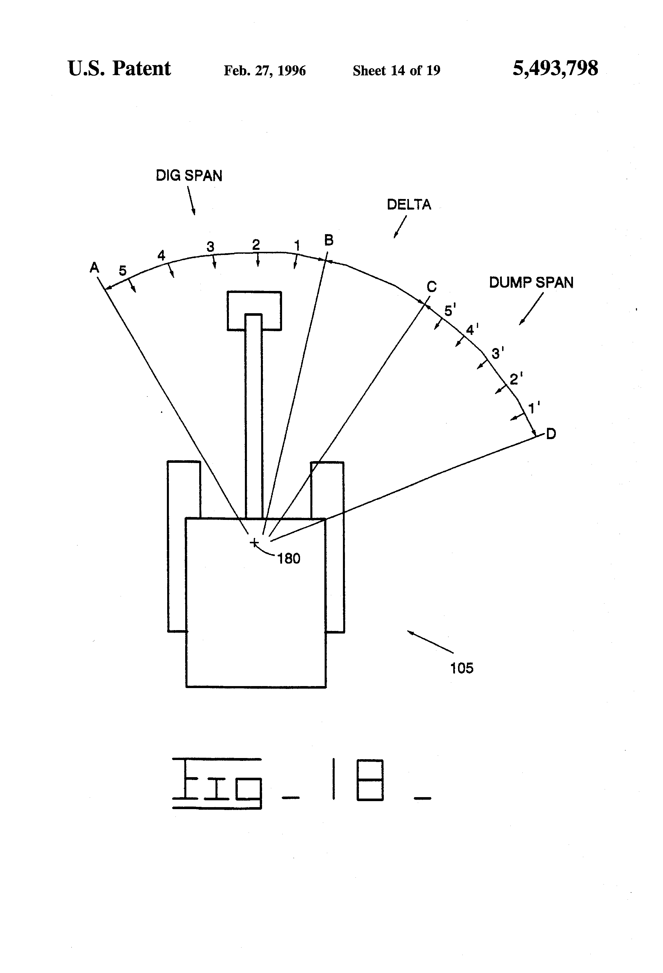 Patent Us5493798 Teaching Automatic Excavation Control System And Diagram Potain Tower Crane Specification Software Block Basic Drawing