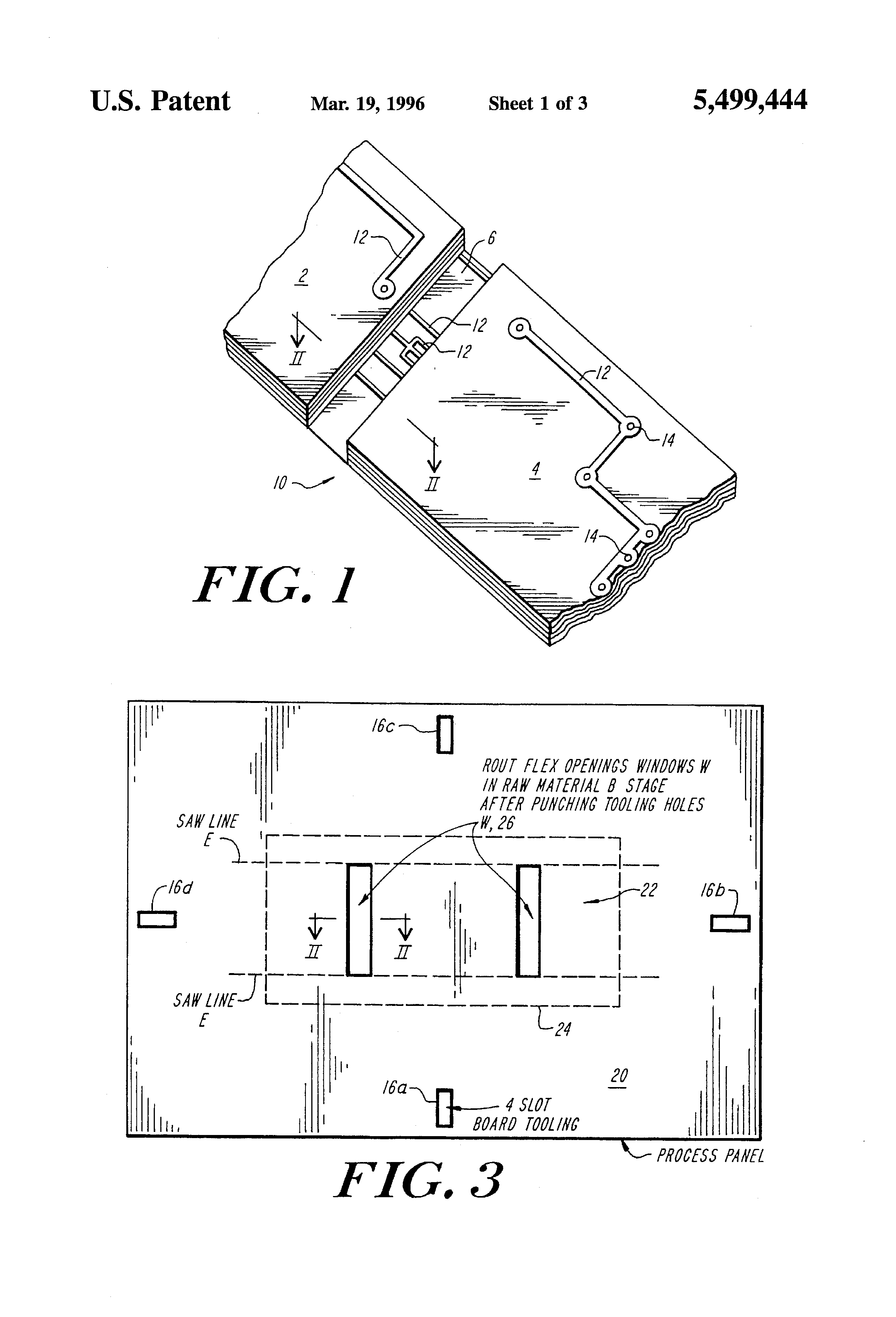 Patent Us5499444 Method Of Manufacturing A Rigid Flex Printed Circuit Board Insulation Panel Copper Clad Laminate Buy Drawing