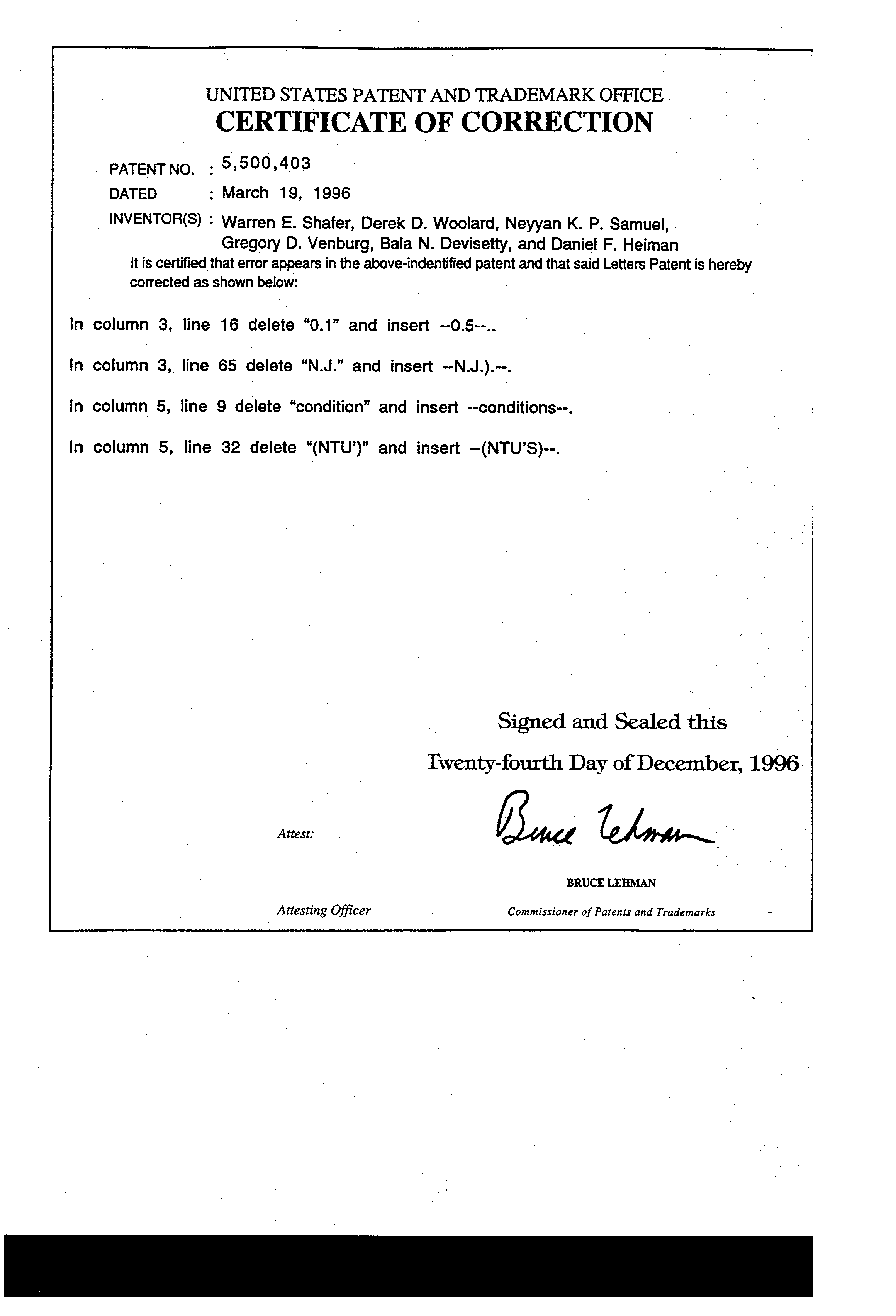 Patent Us5500403 Liquid Formulations And Process For Extending