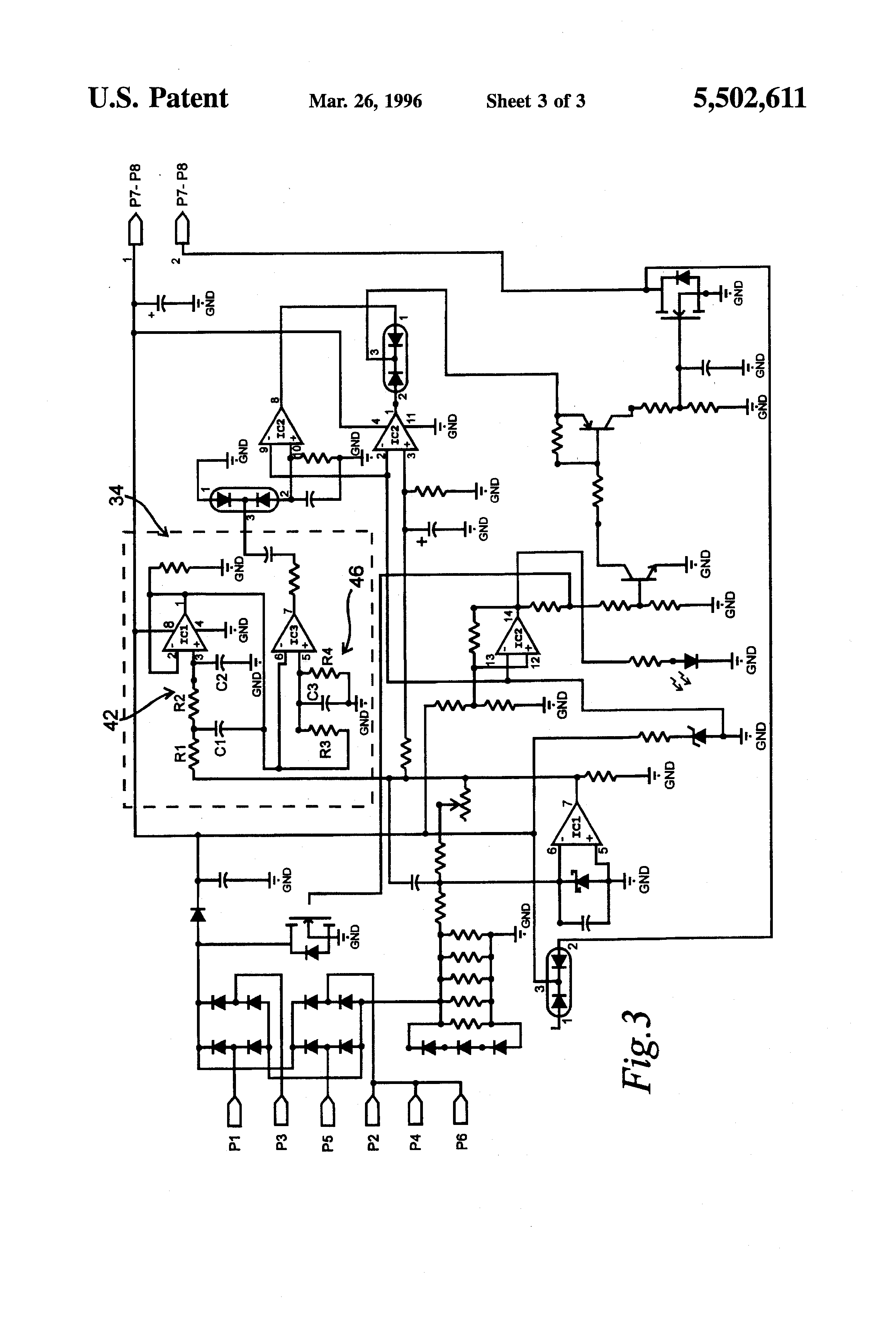 Patent Us5502611 Circuit For Providing Phase Loss And