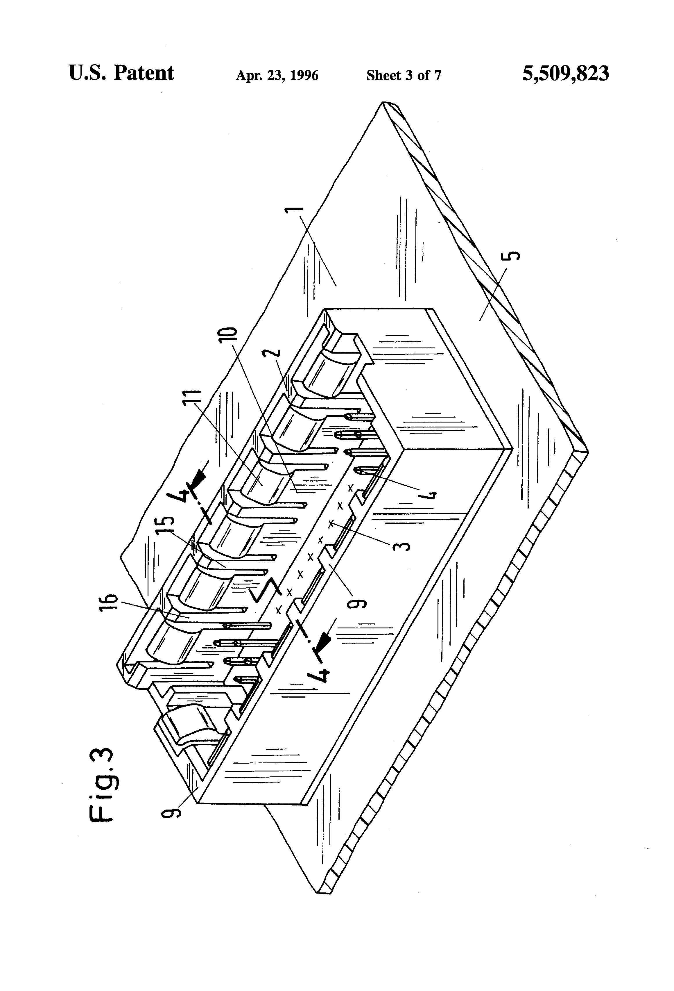 patent us5509823 - electrical mating connector