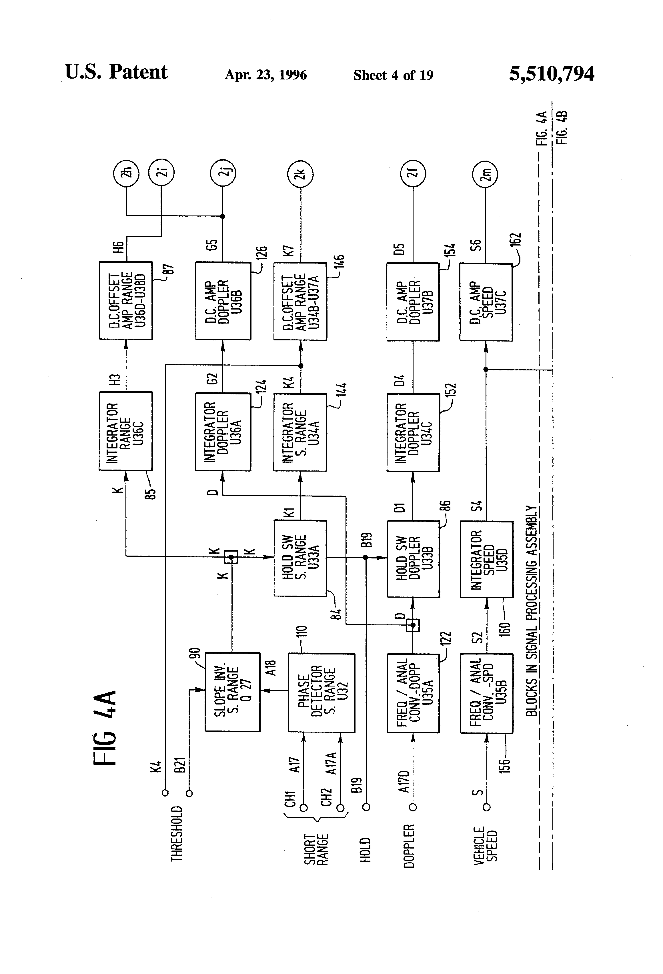 Pure Sinewave Generator Circuit Diagram Tradeoficcom Wiring Sine Wave Converter Basiccircuit Patent Us5510794 Vehicular Radar Wayside Transponder System