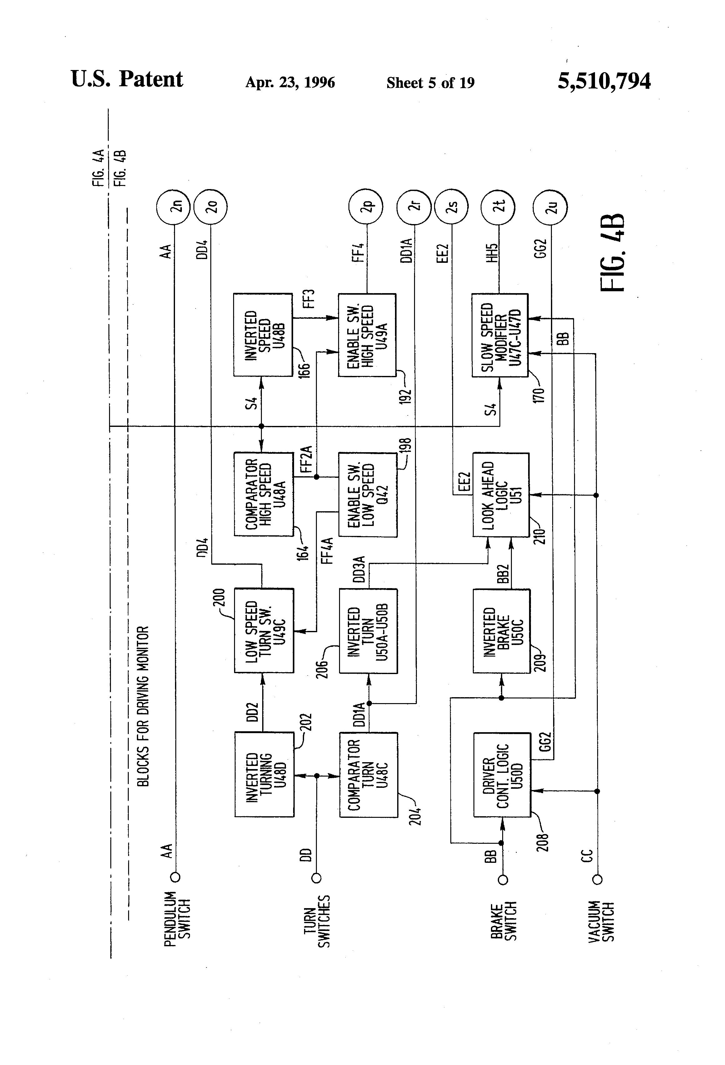 Tachometer Circuit Diagram Tradeoficcom Simple Wiring Cable Short Detector Lowfrequency Data Patent Us5510794 Vehicular Radar Wayside Transponder System
