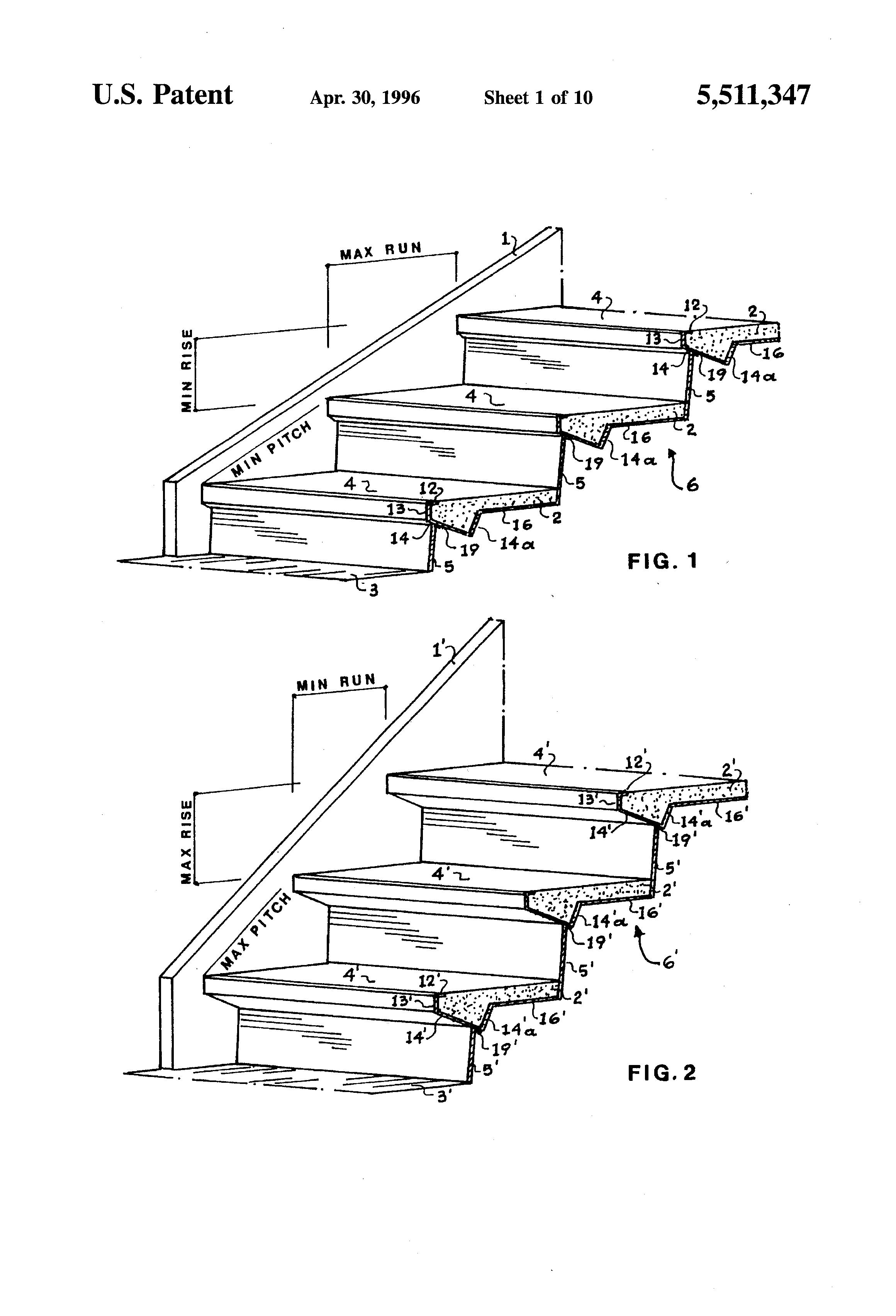 Patent Us5511347 Adjustable Sheet Metal Moulds For Steel