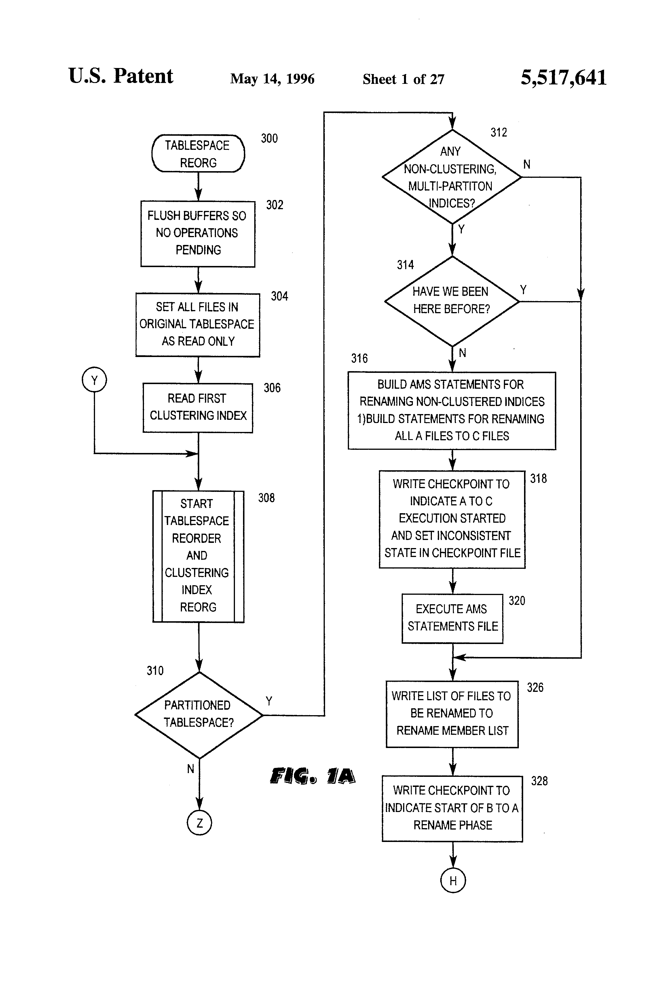 Patent US5517641 - Restartable method to reorganize DB2