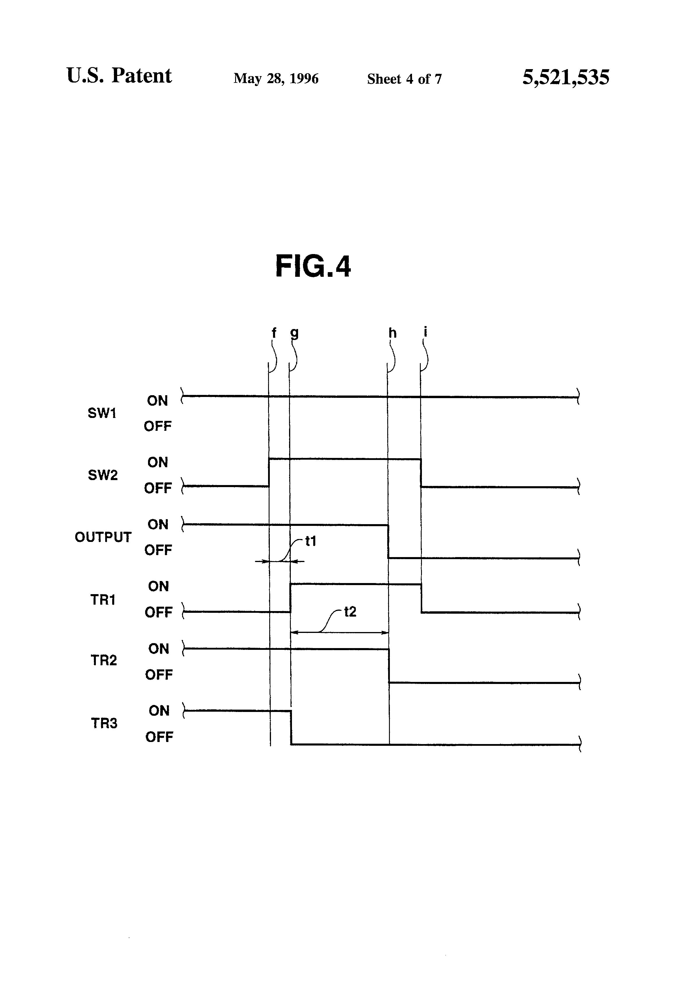 patent us5521535 transistor circuit with a self holding Holding Contact  Start Stop Station Wiring Diagram Holding
