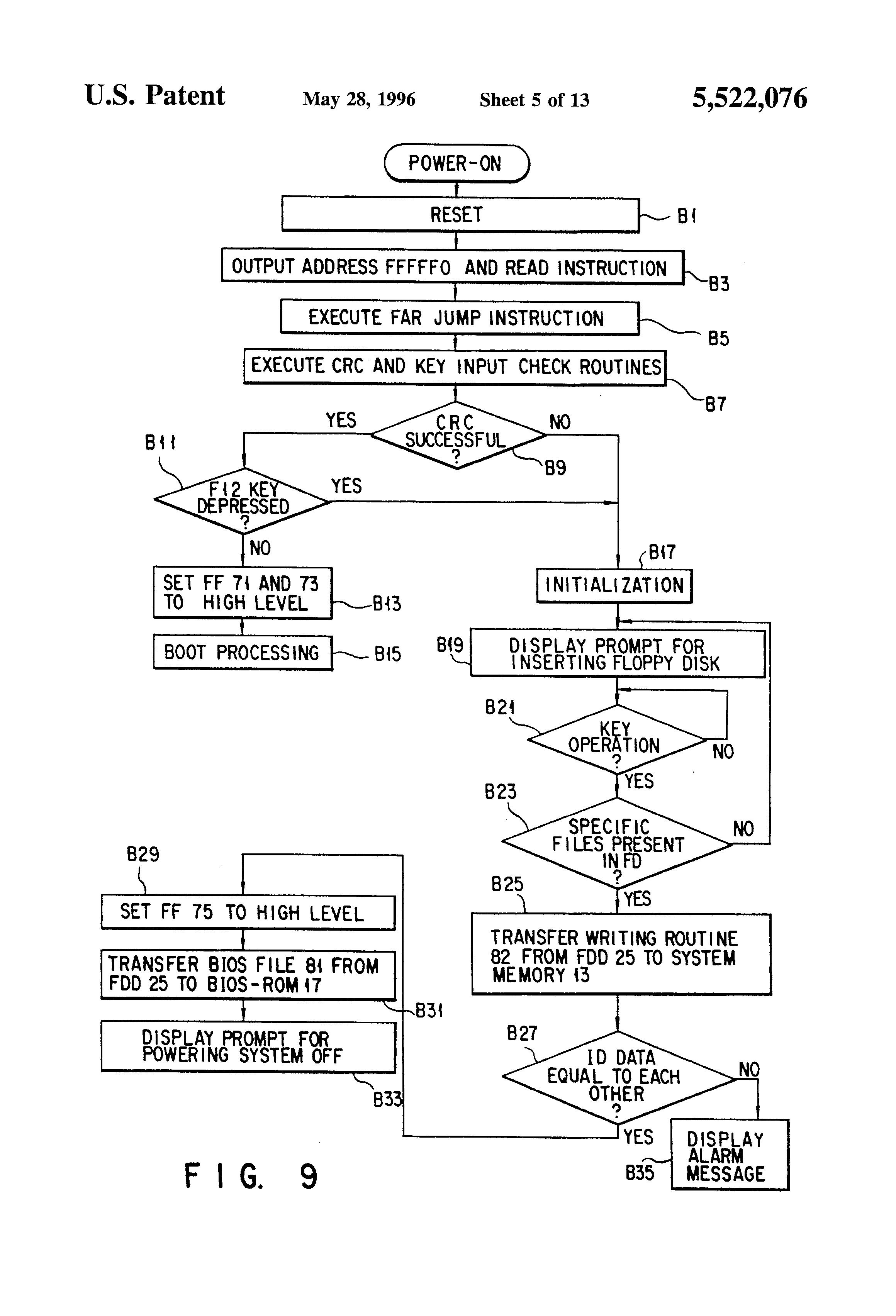 Patent Us5522076 Computer System Having Bios Basic Input Output Psc0 Laptop Toshiba Wiring Diagram Drawing
