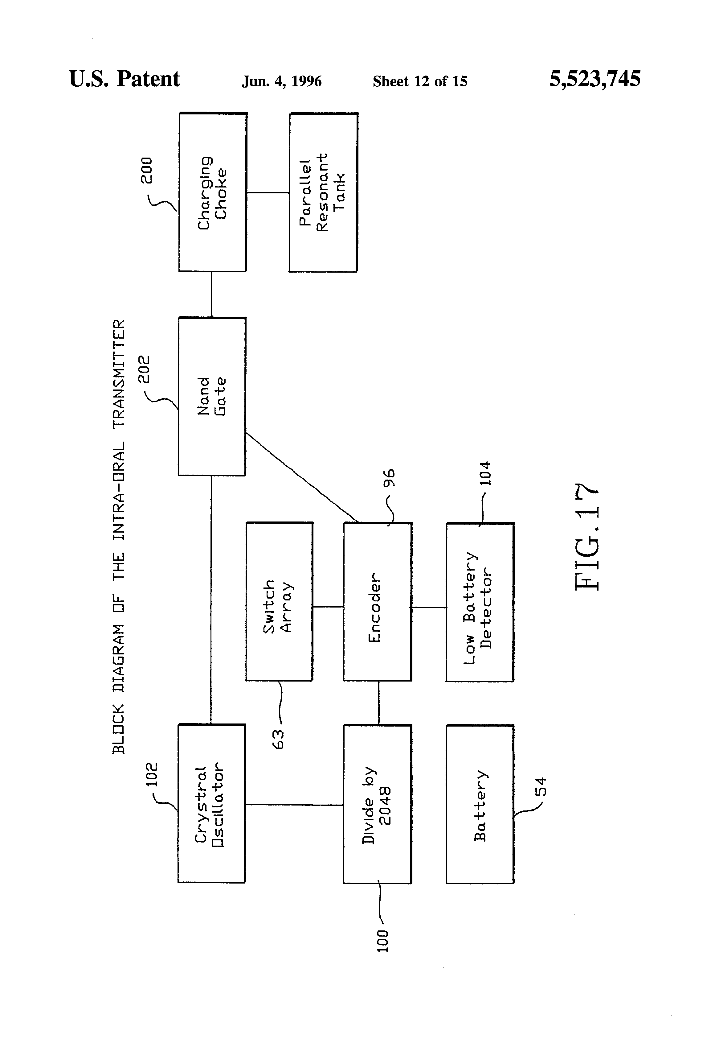 Patent Us5523745 Tongue Activated Communications Controller Lowlevel Am Transmitter Block Diagram Drawing