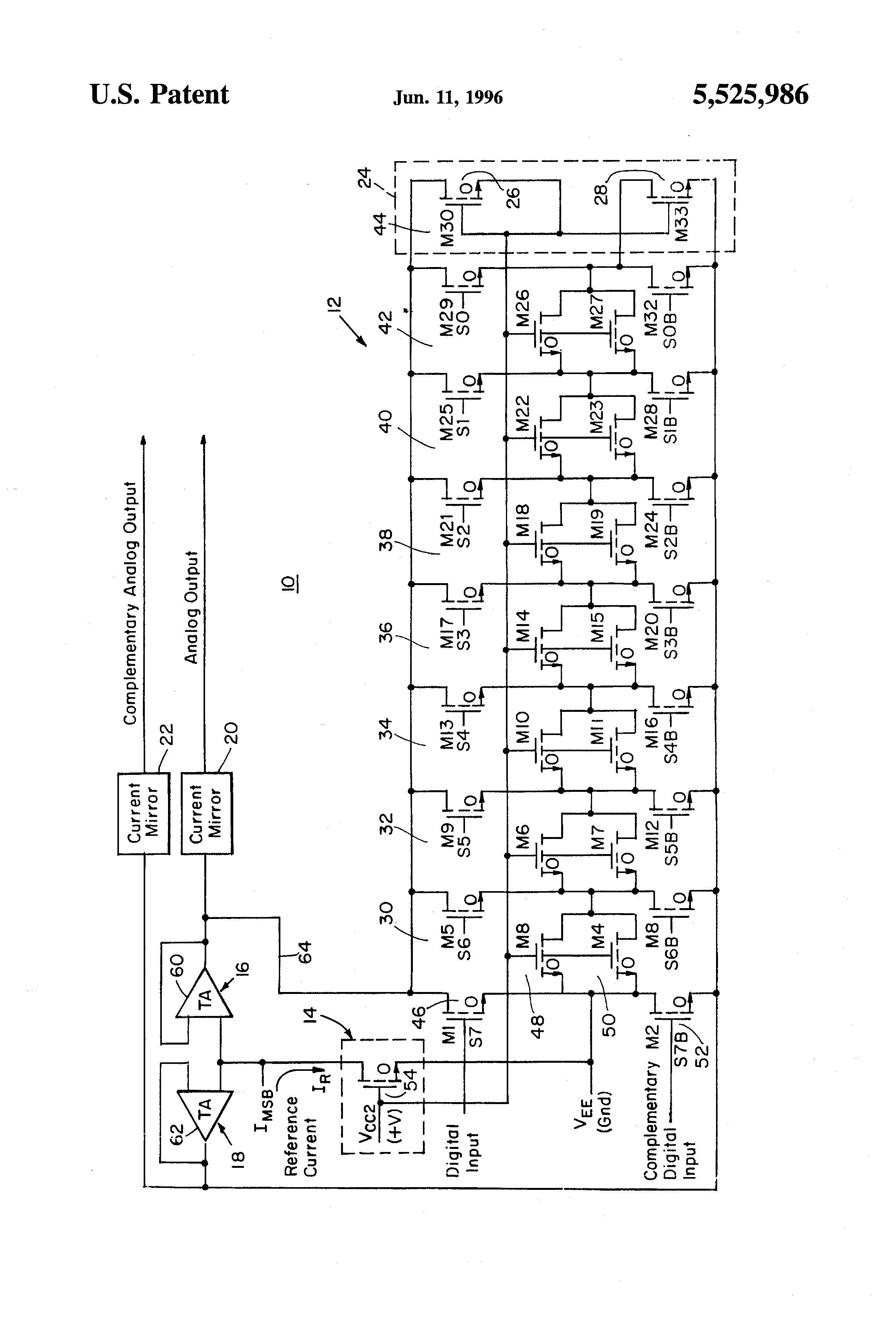 Patent Us5525986 Intrinsic R2r Resistance Ladder Digital