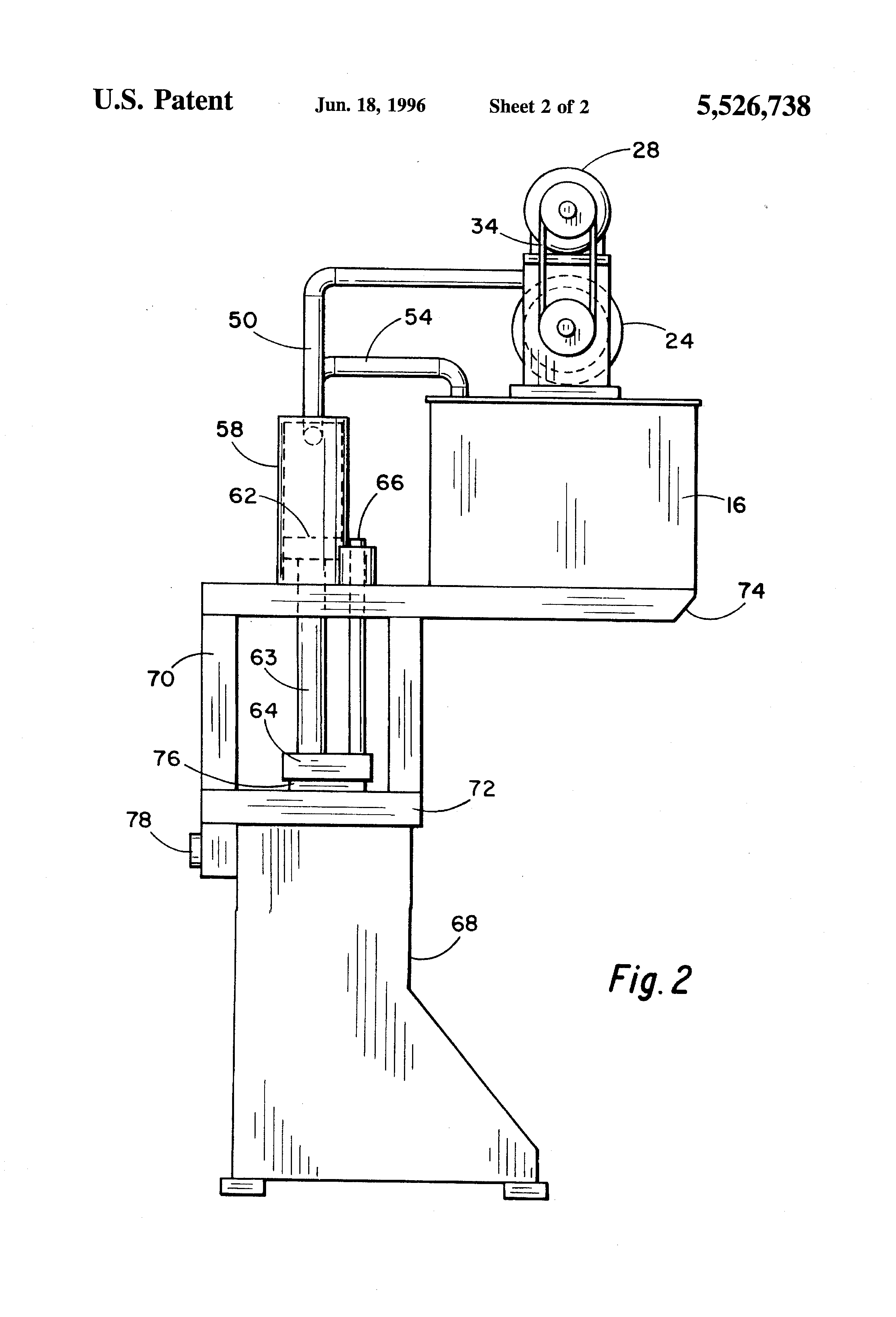 Patent US5526738 - Hydraulic press with flywheel - Google Patents