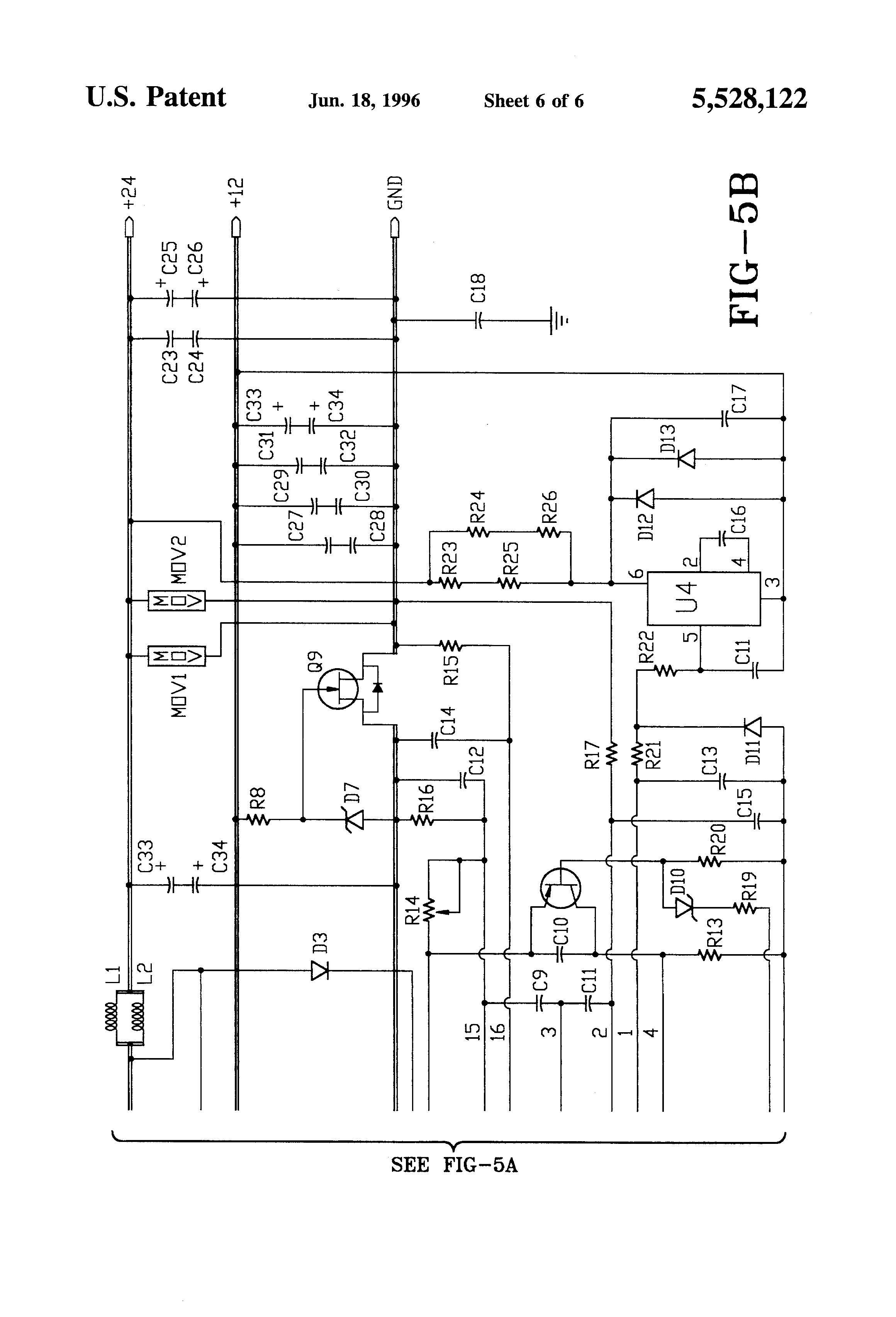 patent us5528122 battery voltage equalizer circuit. Black Bedroom Furniture Sets. Home Design Ideas