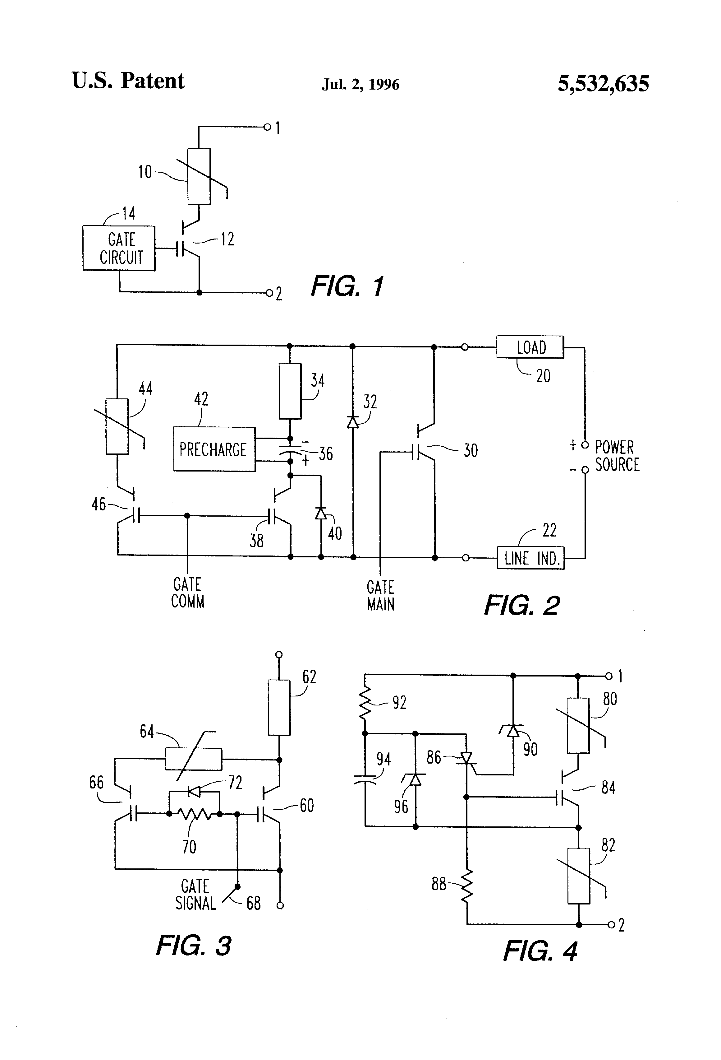 Patent Us5532635 Voltage Clamp Circuit And Method Google Patents Mos Controlled Thyristor Mct Electronic Circuits Diagram Drawing