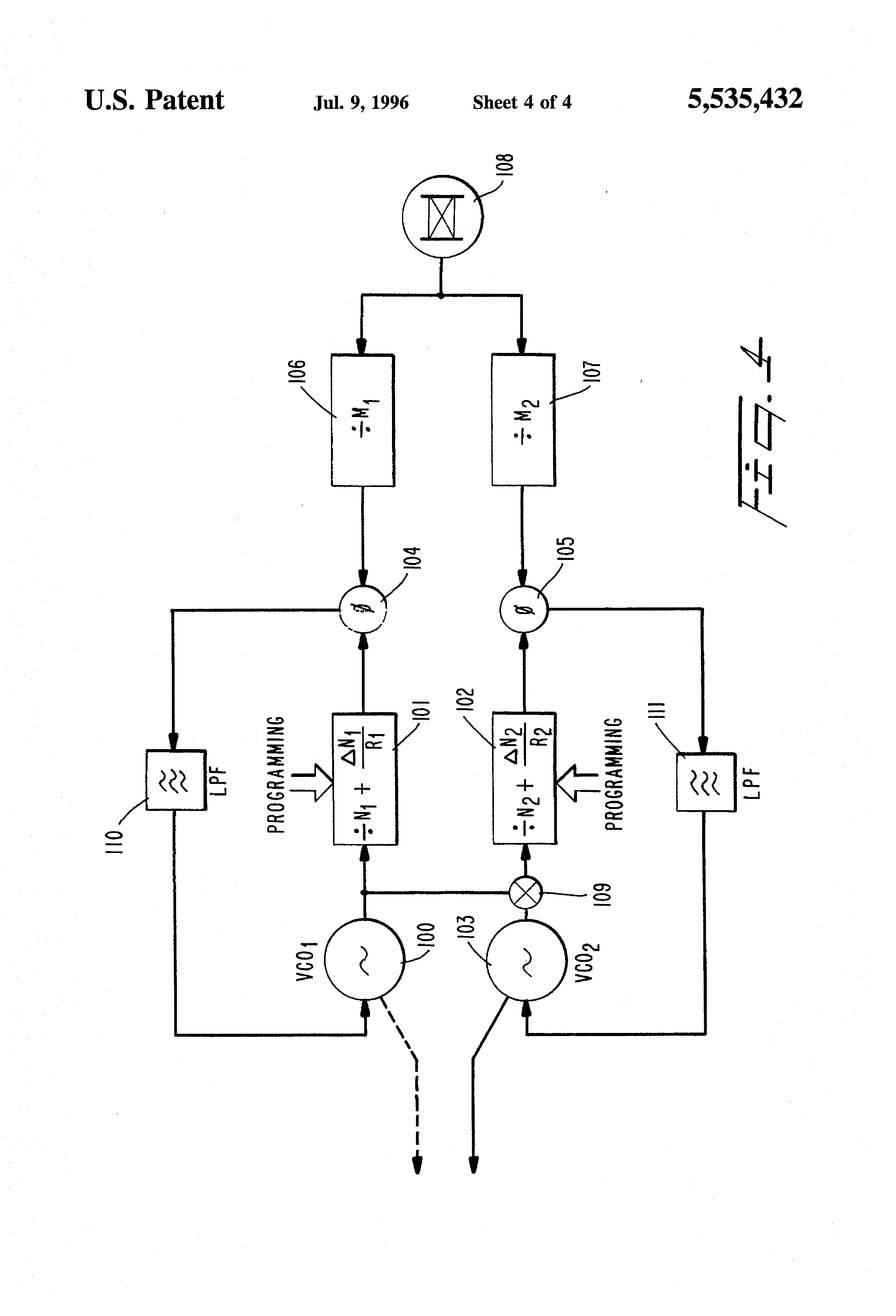 Patent Us5535432 Dual Mode Satellite Cellular Phone With A Circuit Diagram Communication Motorola 2000 Cell Drawing
