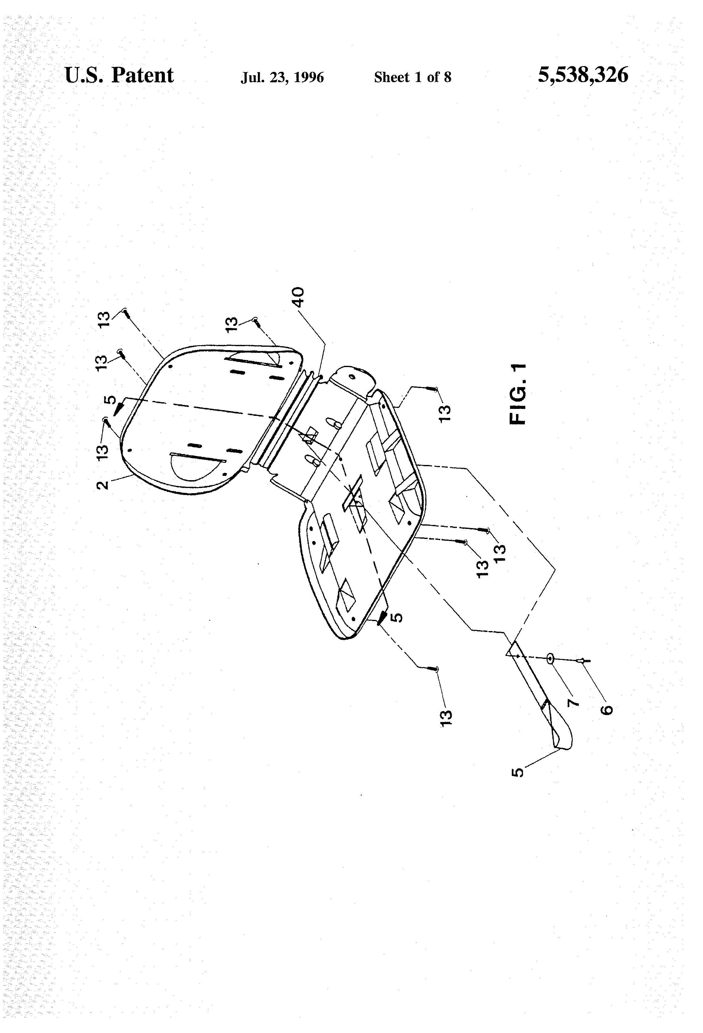 Milsco Seat Hardware : Patent us flexible unitary seat shell google