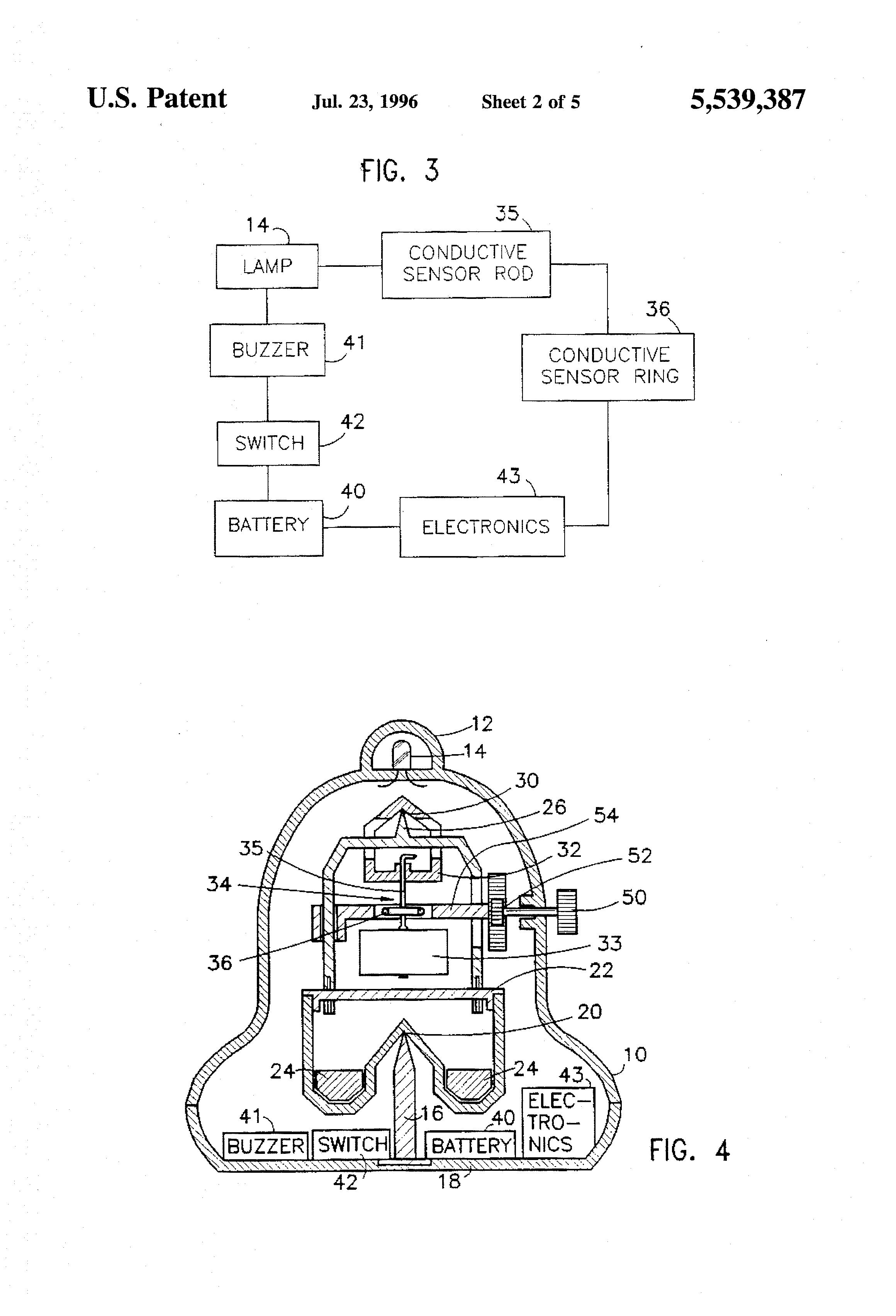 patent us5539387 - earthquake sensor