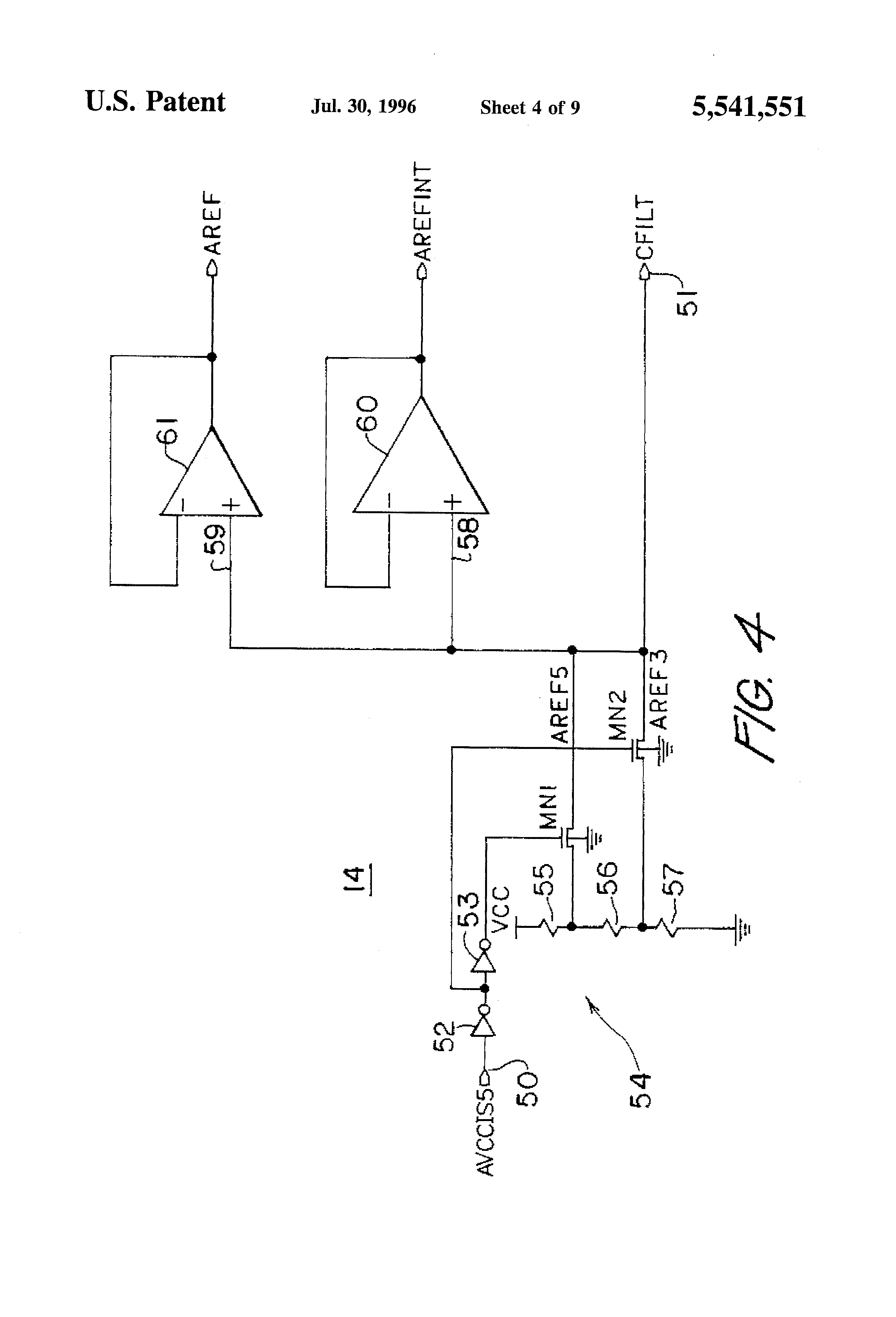 patent us5541551 - analog voltage reference generator system
