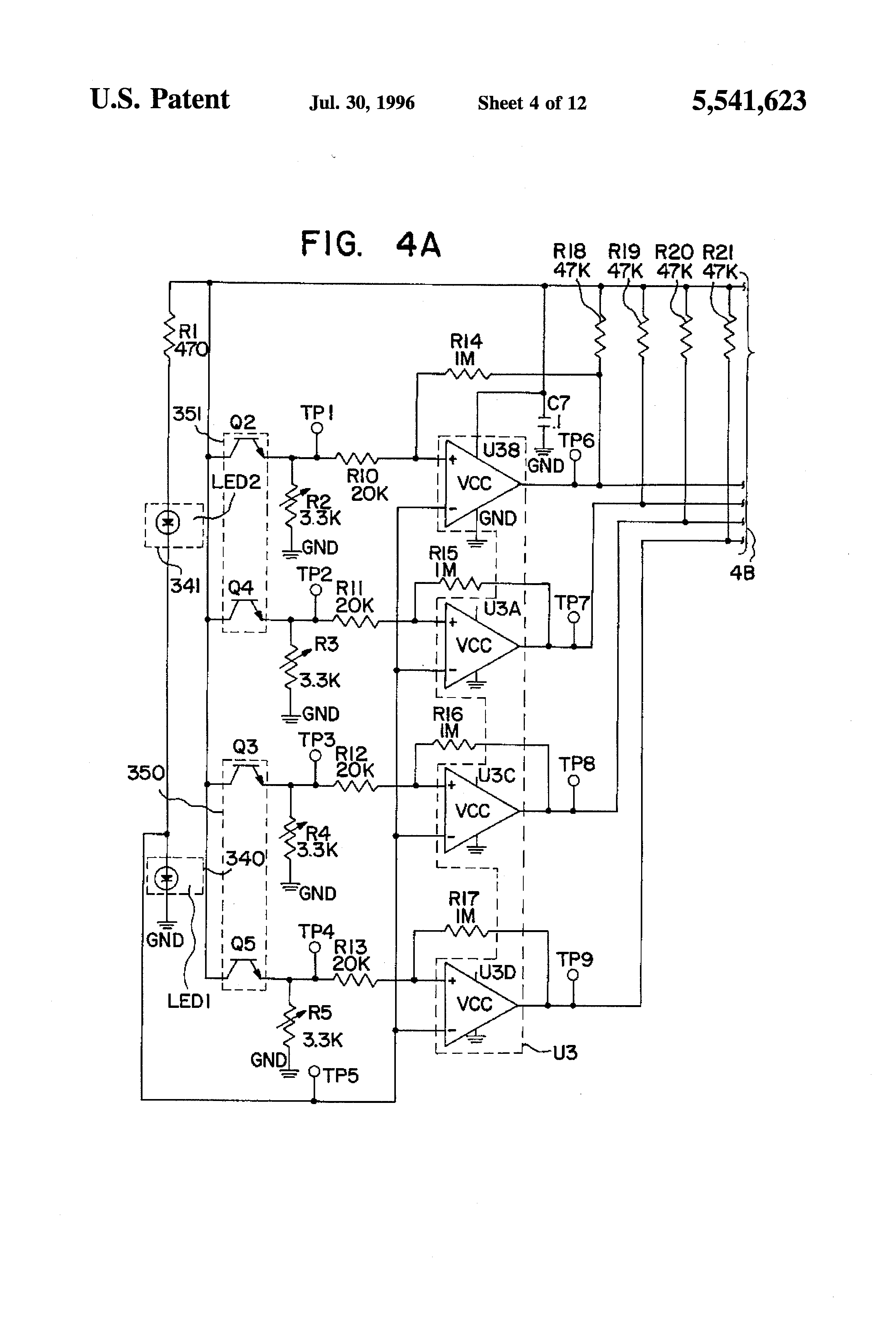 US5541623 4 logitech optical mouse circuit diagram circuit and schematics logitech speakers x 230 wiring diagram at bakdesigns.co