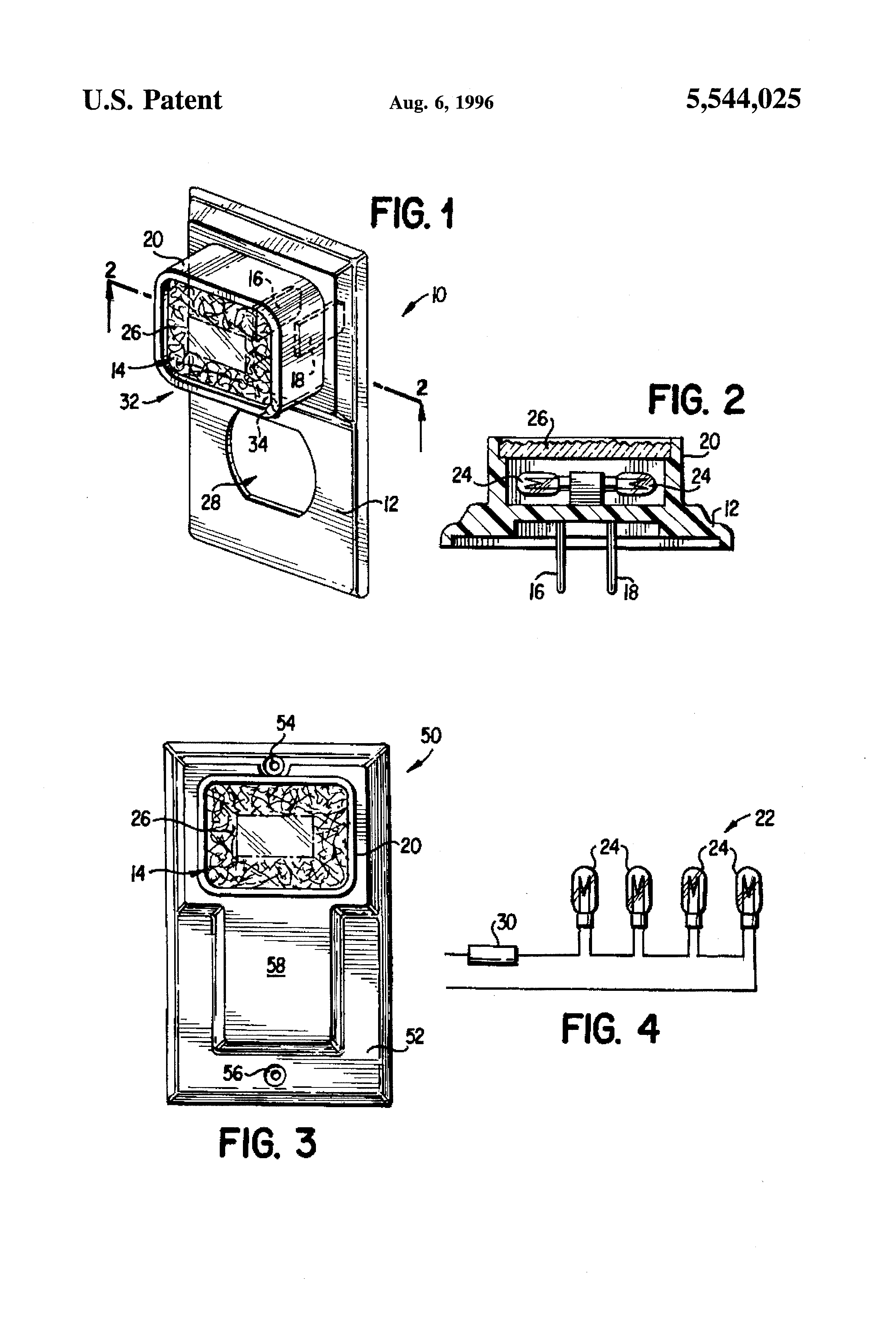Pivoting Face Receptacle Google Patents On Wiring In Outlets Parallel Or Series Patent Us5544025 Outlet Cover Plate Incorporating A Nightlight