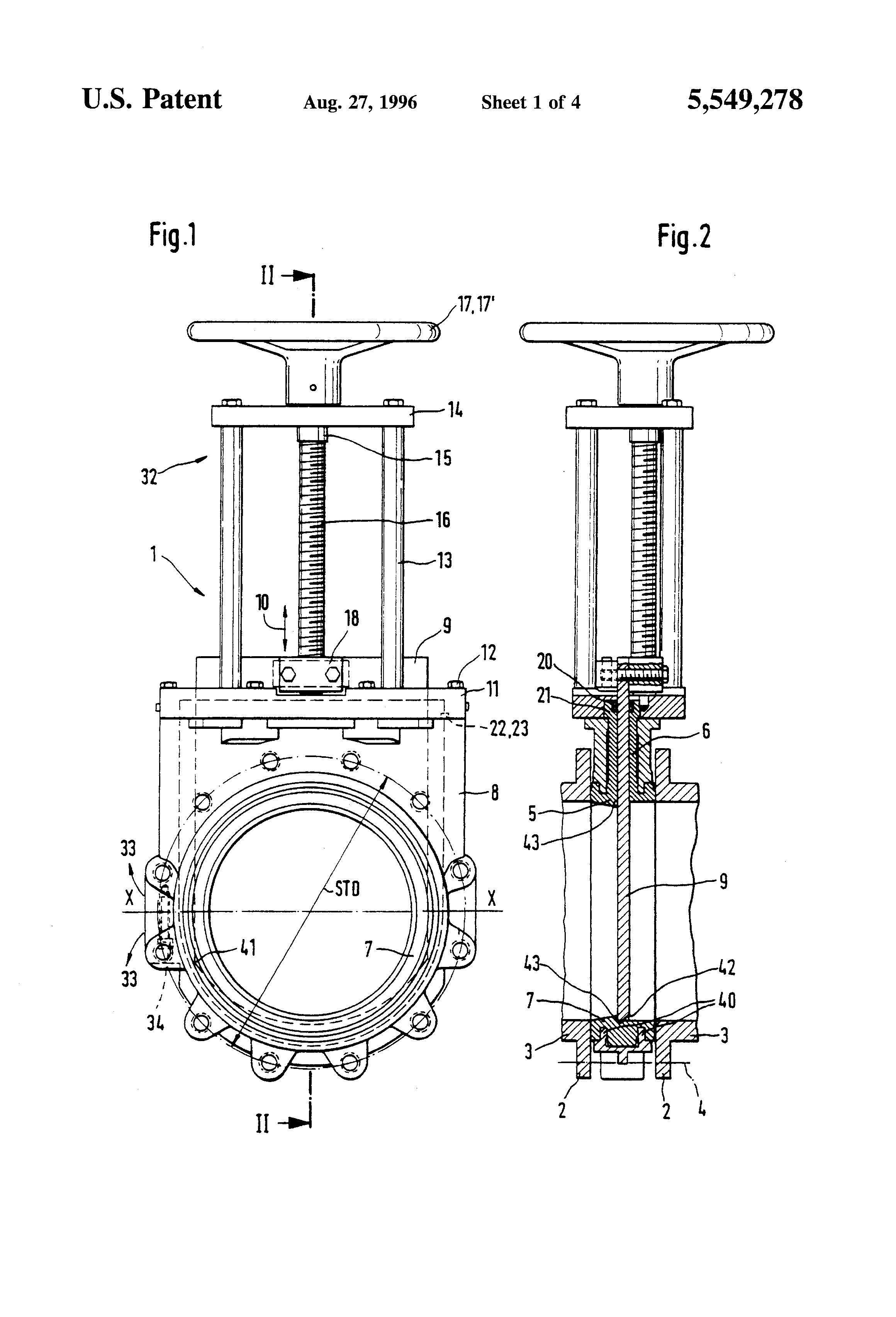 patent us5549278 - parallel-slide gate valve - google patents slide valve wiring diagram slide gate wiring diagram
