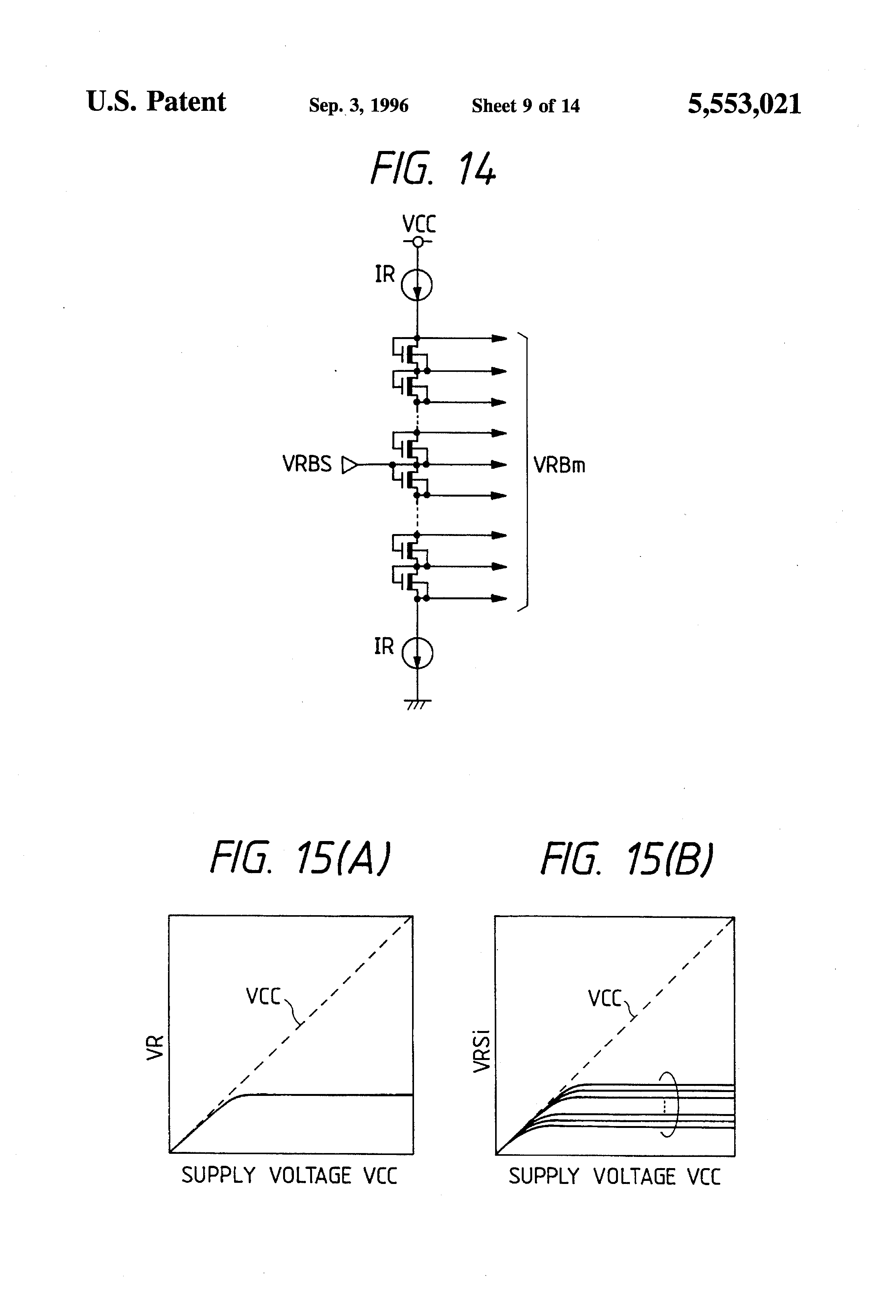 Patent Us5553021 Semiconductor Integrated Circuit Device Including Figure 2 Voltage Divider Setting Comparator Input Drawing