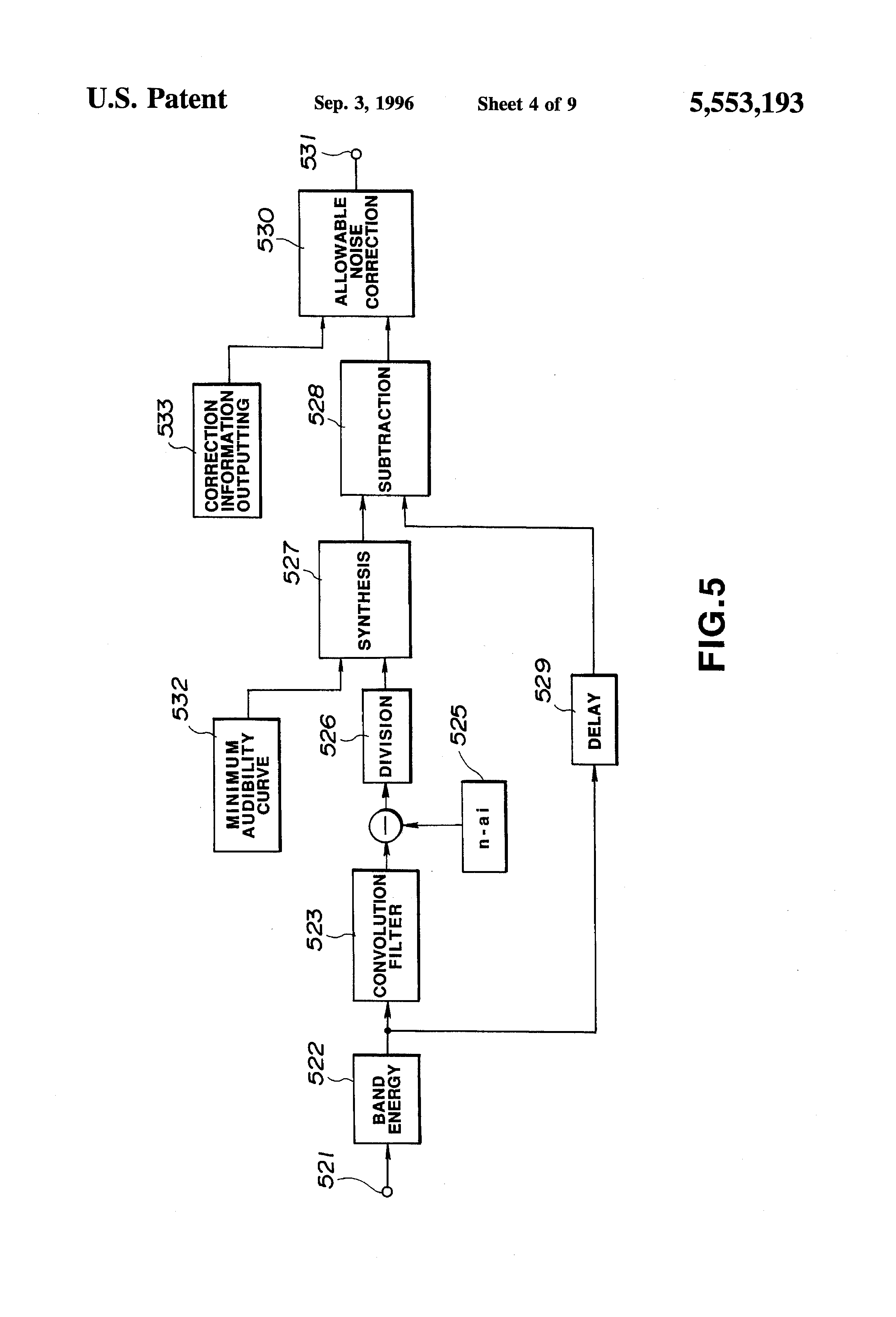 Patent Us5553193 Bit Allocation Method And Device For Digital Noise Filter Circuit Drawing