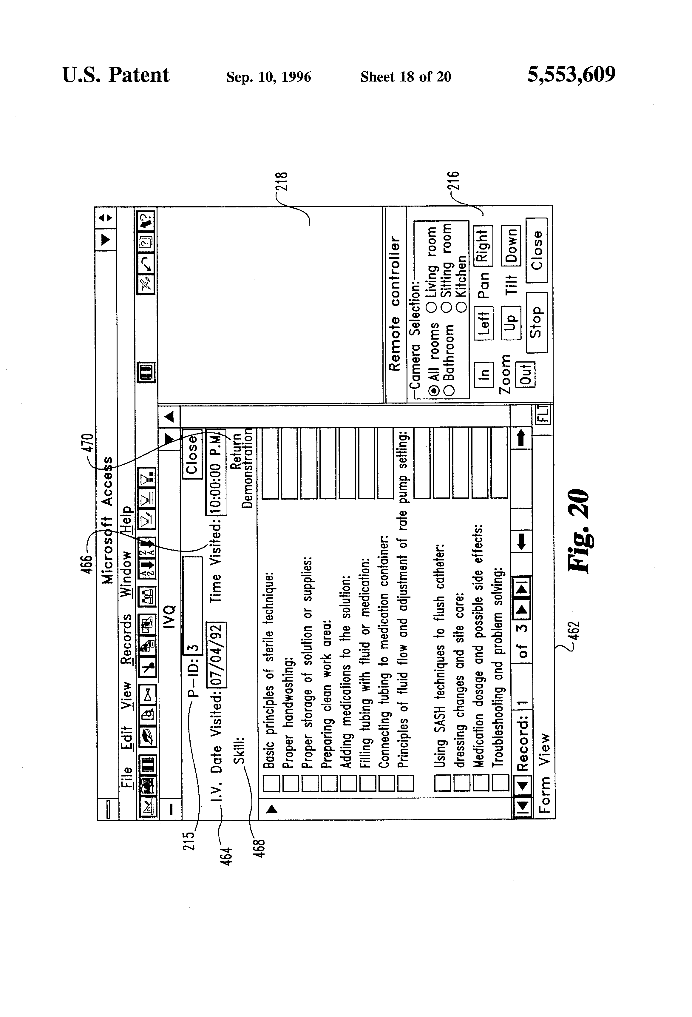 Patent us5553609 intelligent remote visual monitoring for Interior home monitoring system