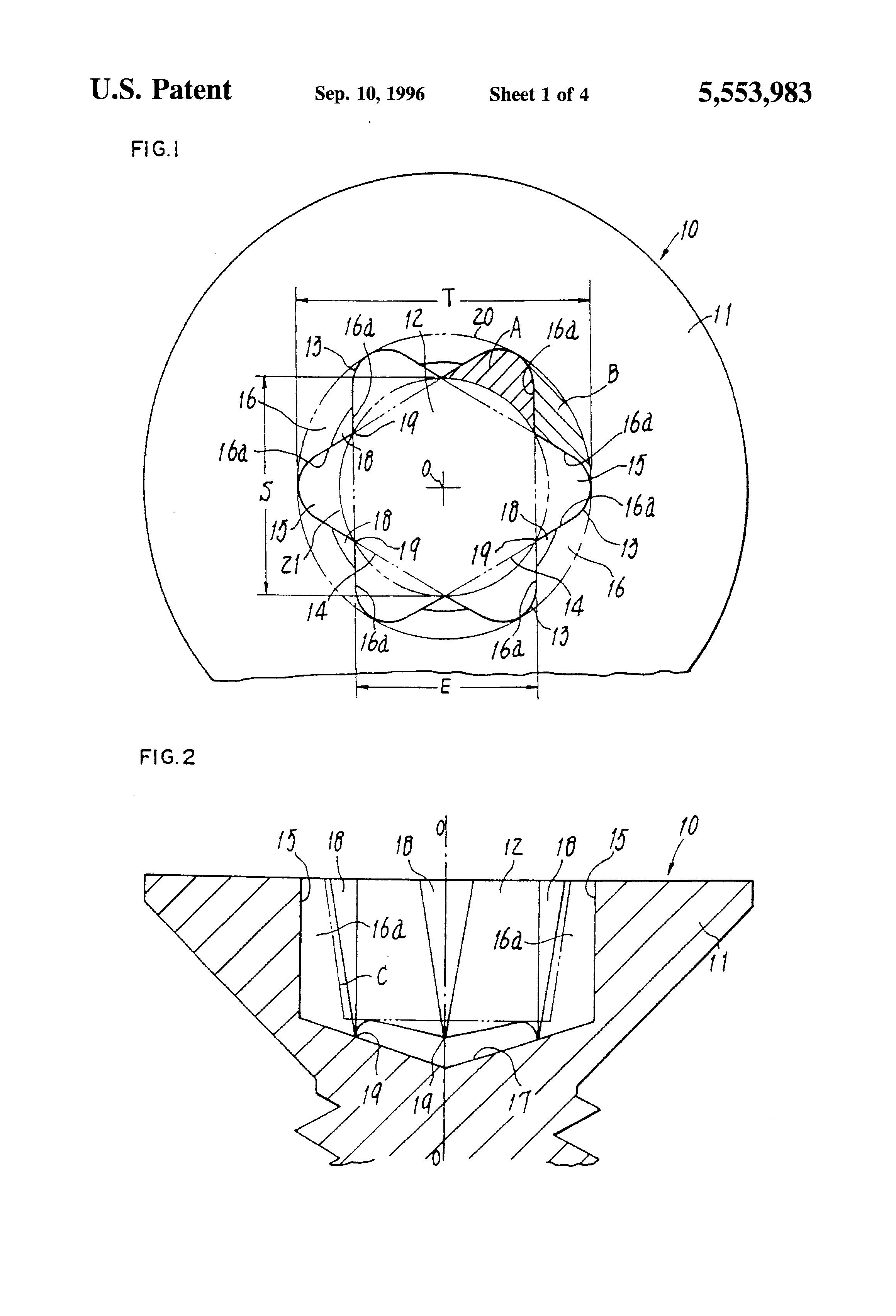 patent us5553983 - recessed screw