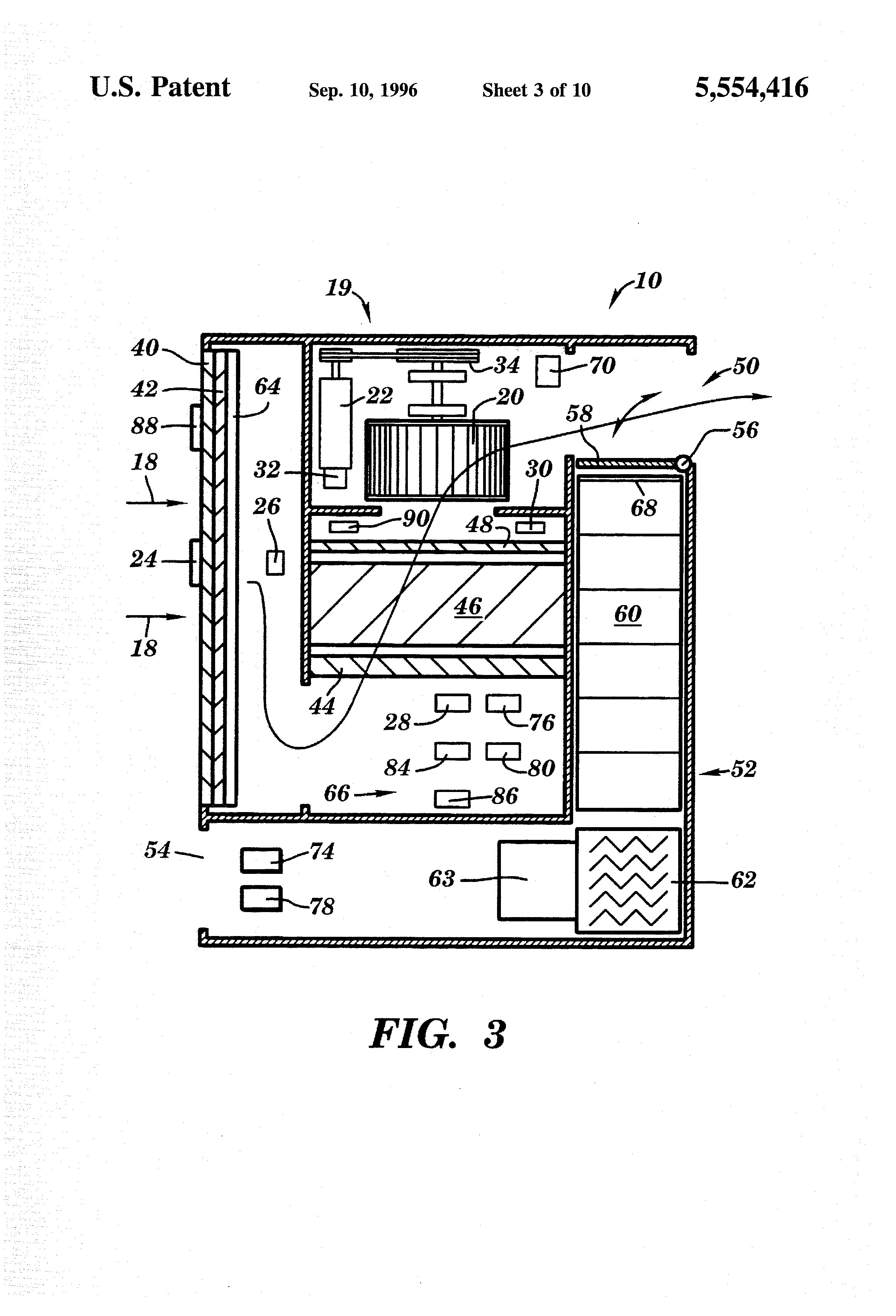 Patent Us5554416 Automated Air Filtration And Drying System For Fire Alarm Using Thermistor 038 Ne555 Drawing
