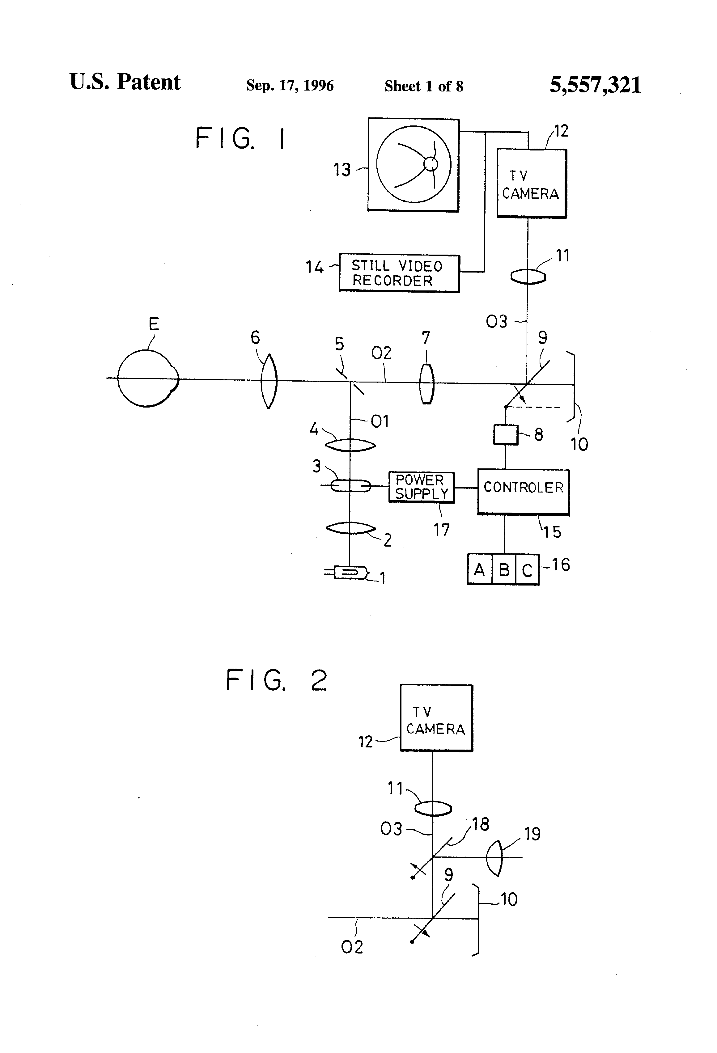 Patent Us5557321 Fundus Camera Or Opthalmic Apparatus Comprising A Source Flash Tube Circuit Drawing