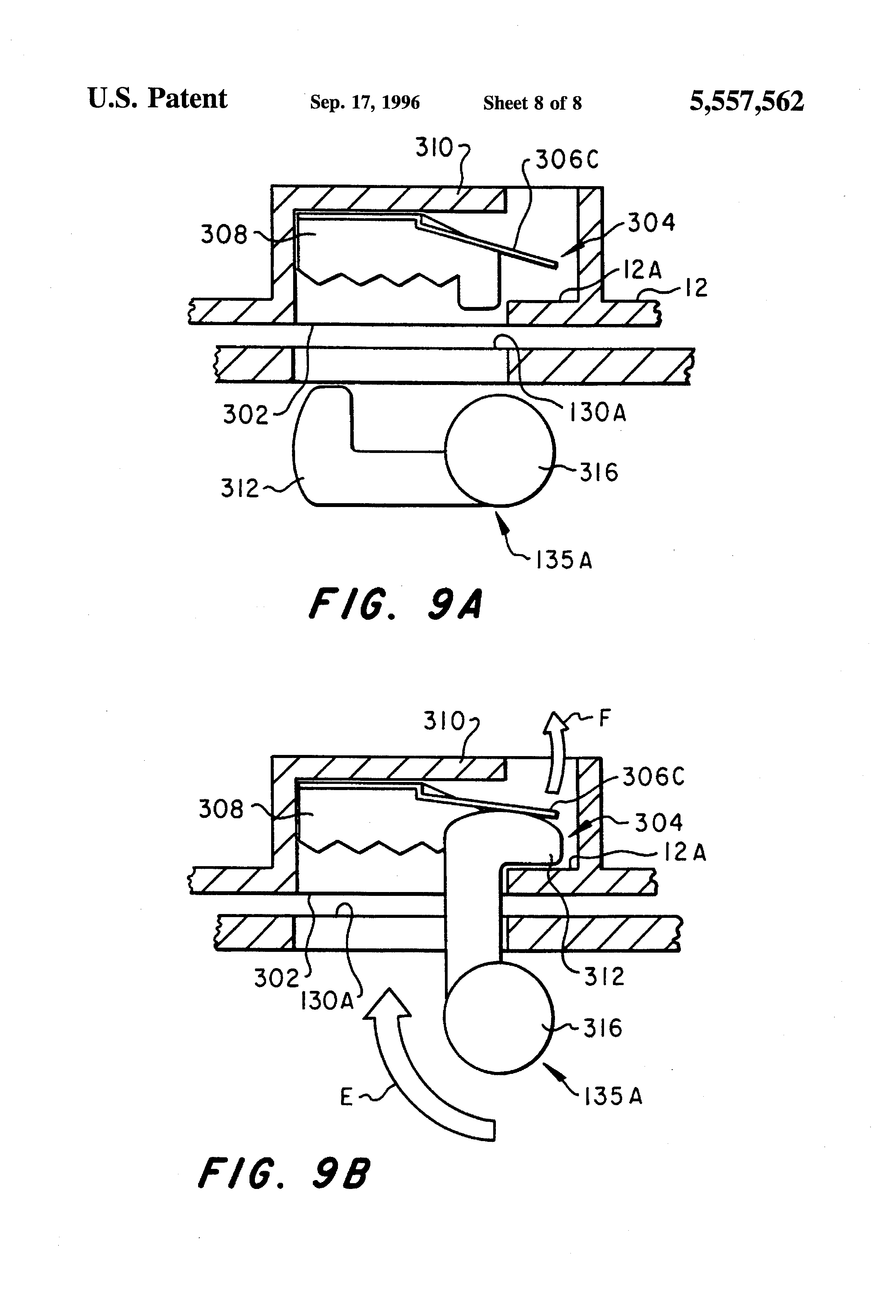 Patent US5557562 - Portable computer and docking device for portable on