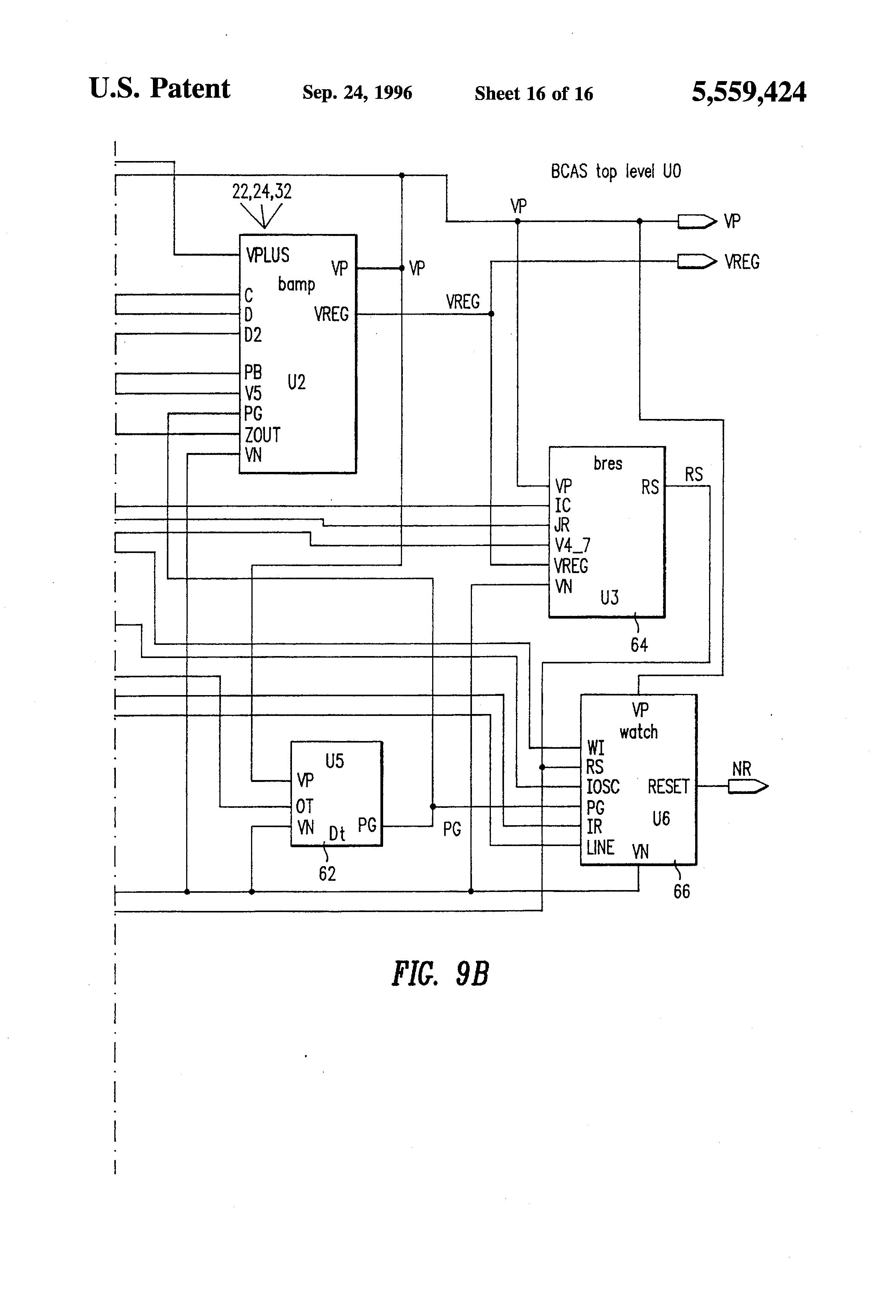 Us5559424 Voltage Regulator Having Improved 555watchdogtimercircuit Digital Logic Purpose Of Diode In This 555 Patent Drawing