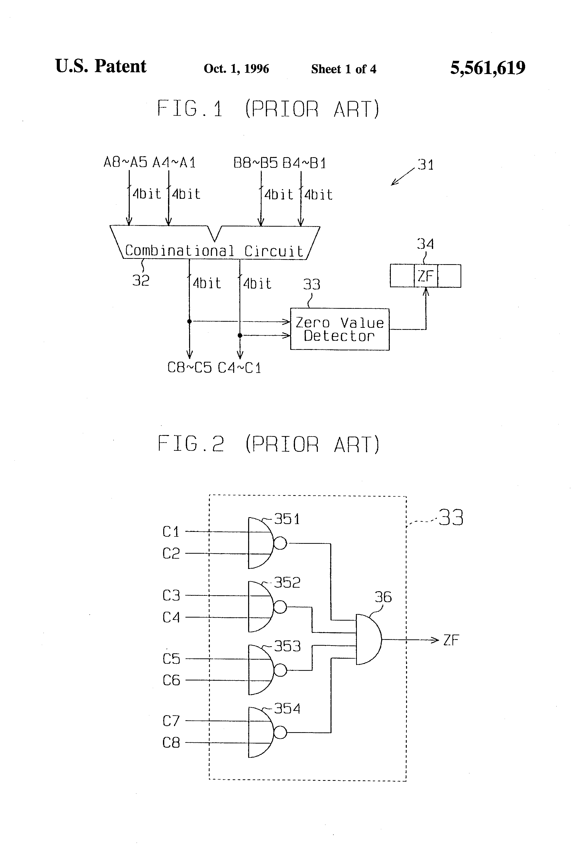 Us5561619 Arithmetic Logic Unit Provided With Diagram Patent Drawing