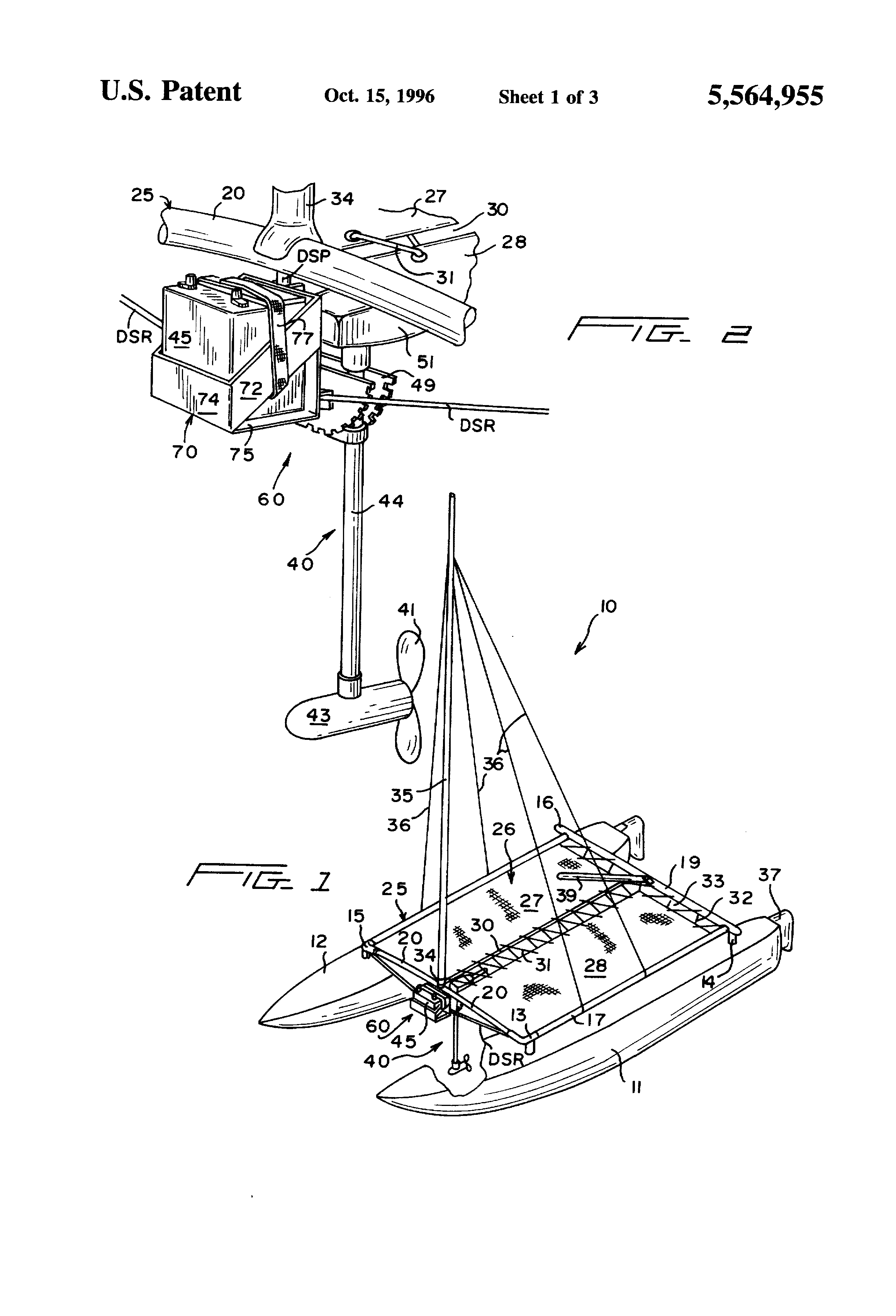 Patent Us5564955 Bracket For Supporting An Electric