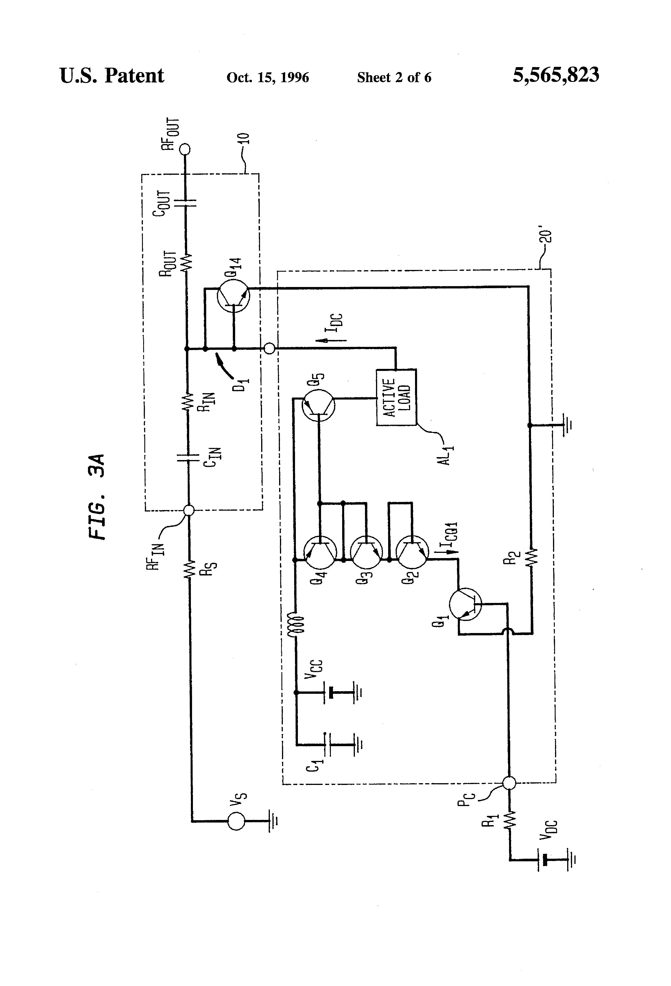 Patent Us5565823 Voltage Controlled Attenuator Using Pn Diodes Gain Amplifier Schematic Diagram The Variable Drawing