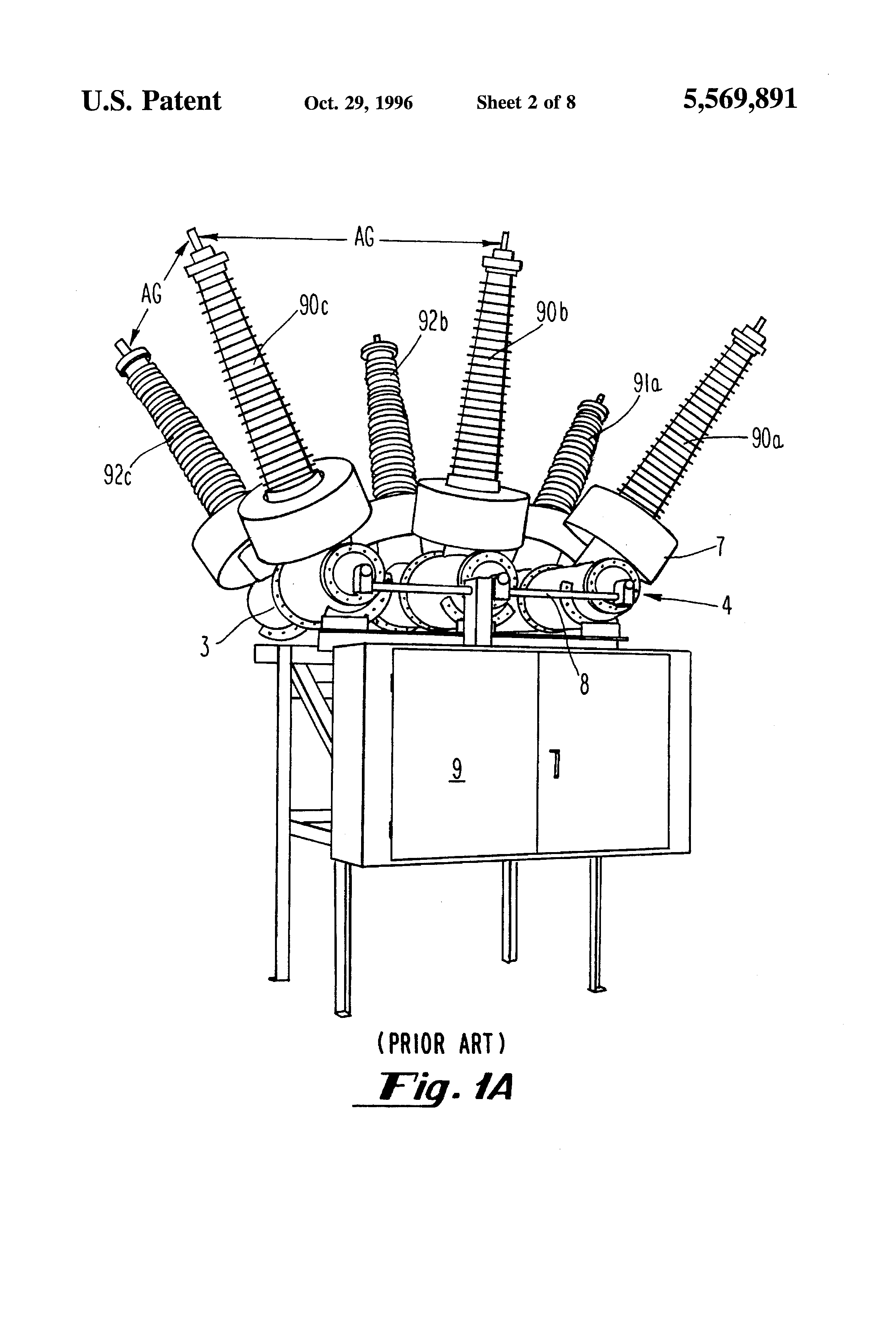 Patent Us5569891 High Performance Circuit Breaker With