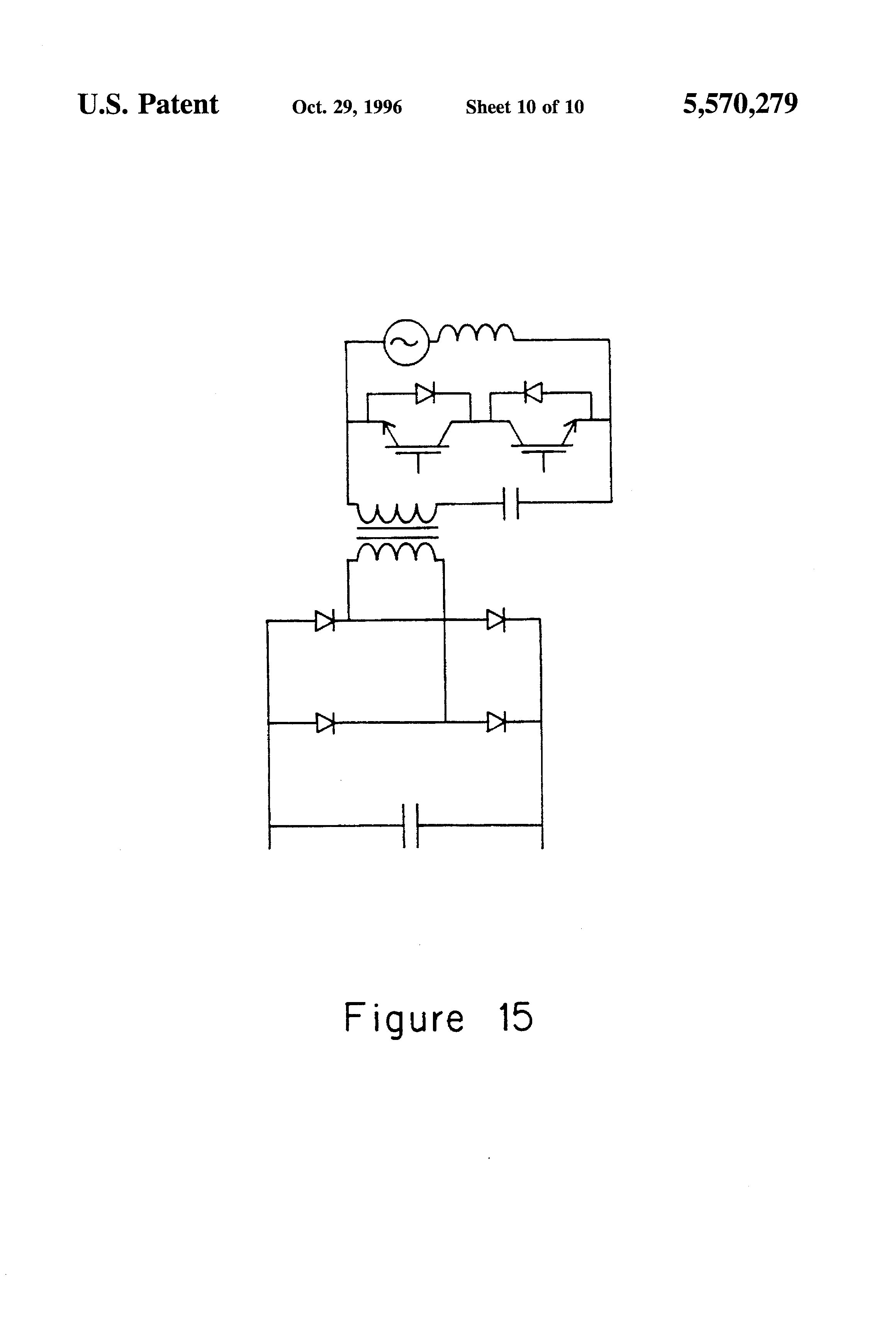 Patent Us5570279 Pwm Converters For Three Phase Ac Power Control And Wiring Diagram Also Dc To Conversion Circuit Drawing