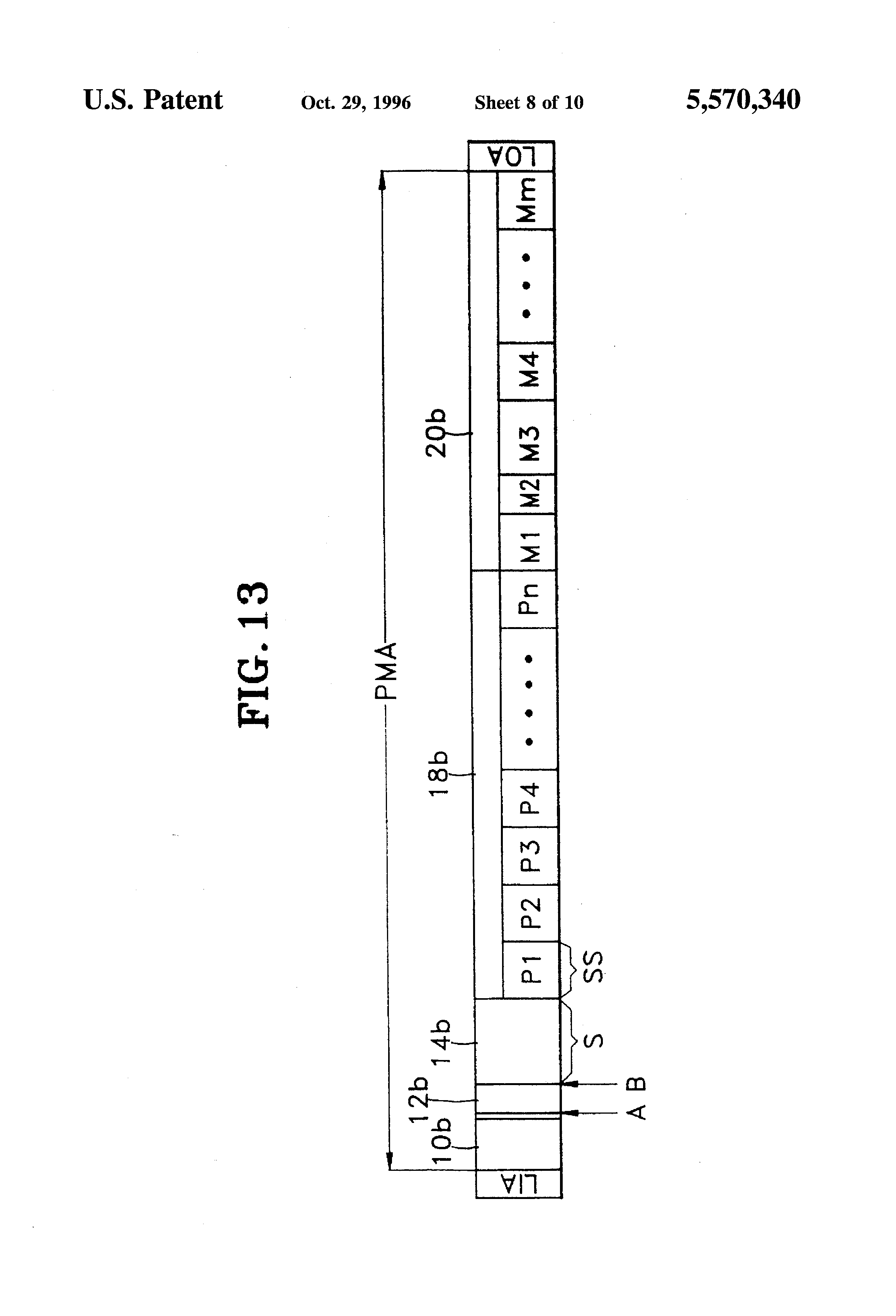 Patent Us5570340 Disk Recording Medium And Method Which Uses An Fuel Filter Location Mazda 5 Drawing