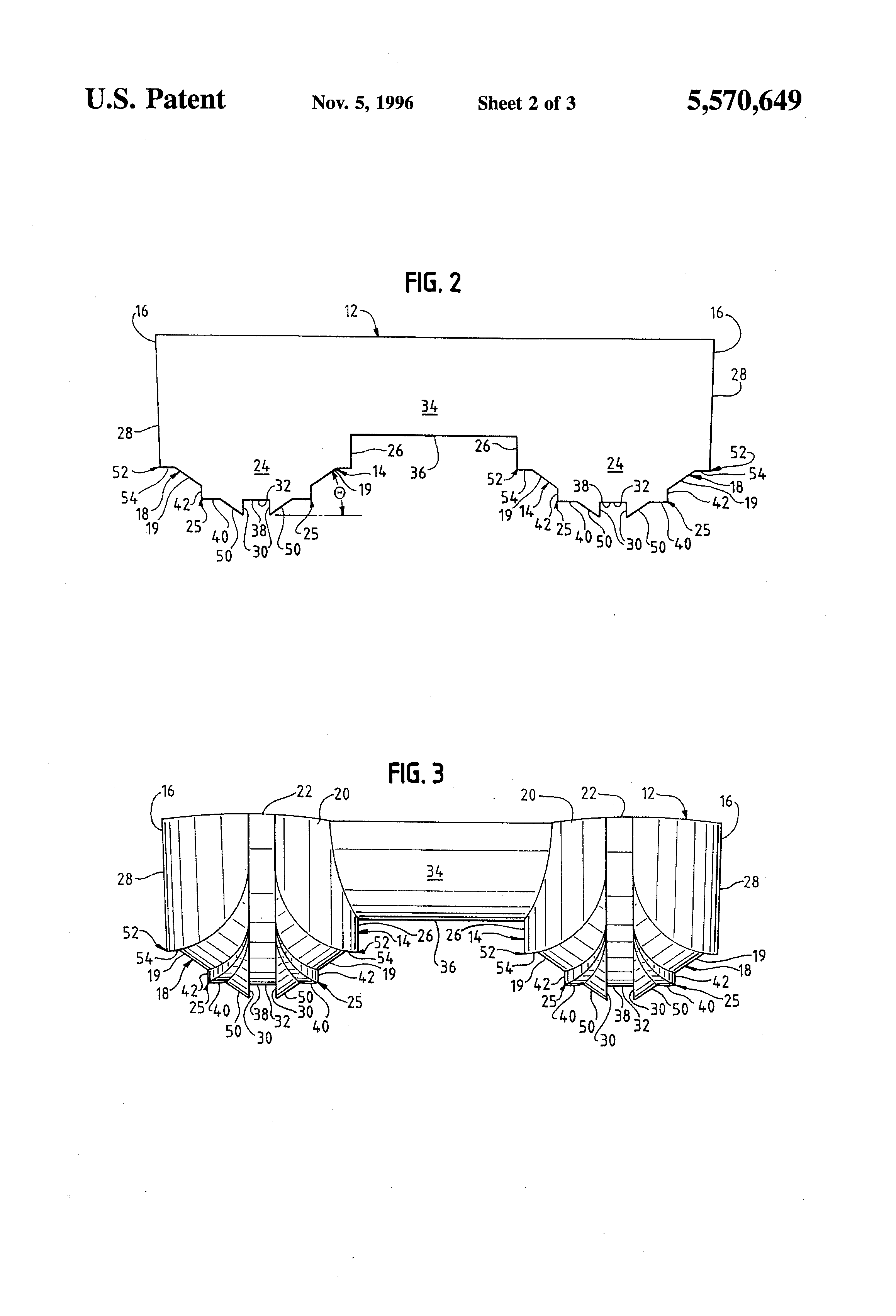 براءة الاختراع US5570649 - Boat hull - براءات اختراع Google