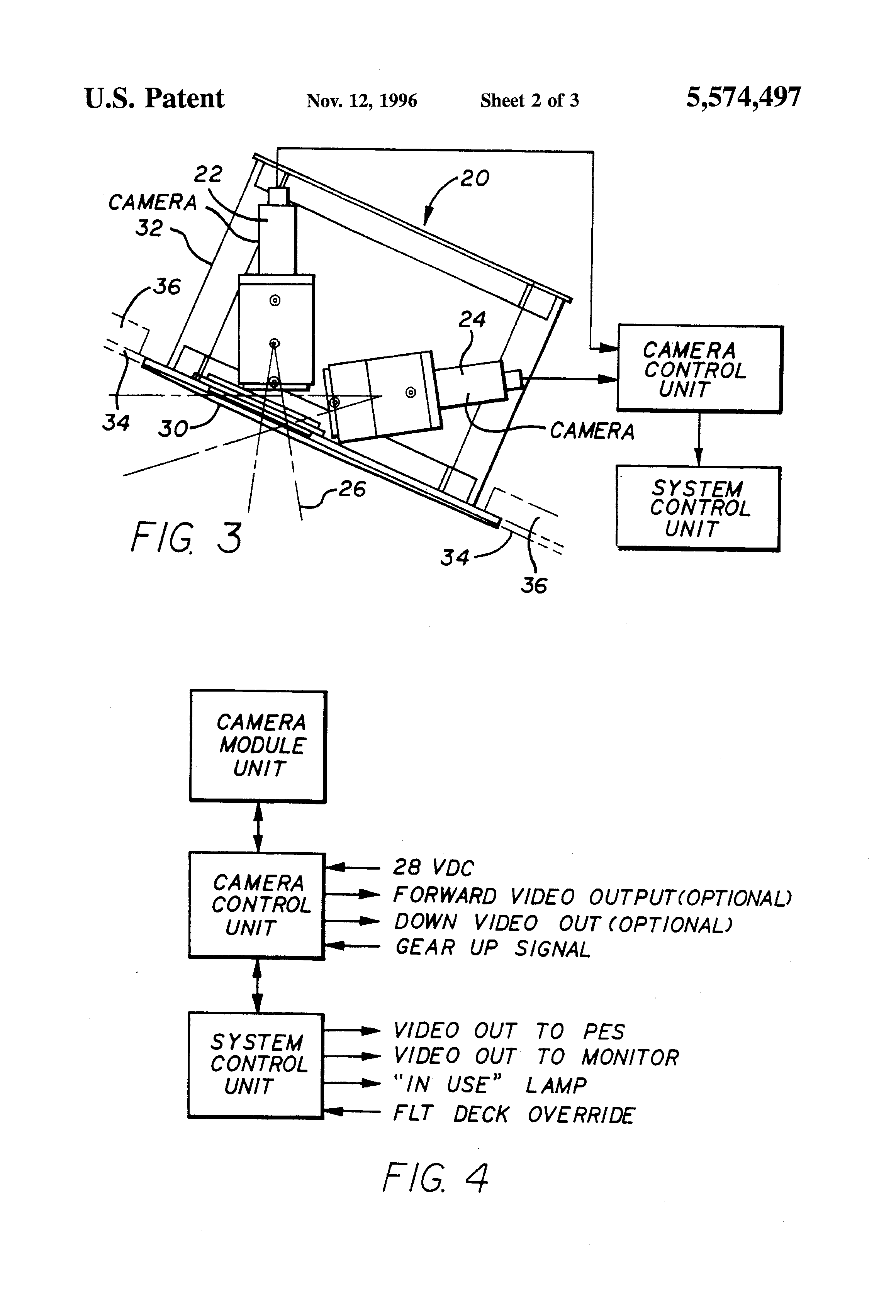 Patent Us5574497 Multi Camera Closed Circuit Television System For Diagram Video Drawing