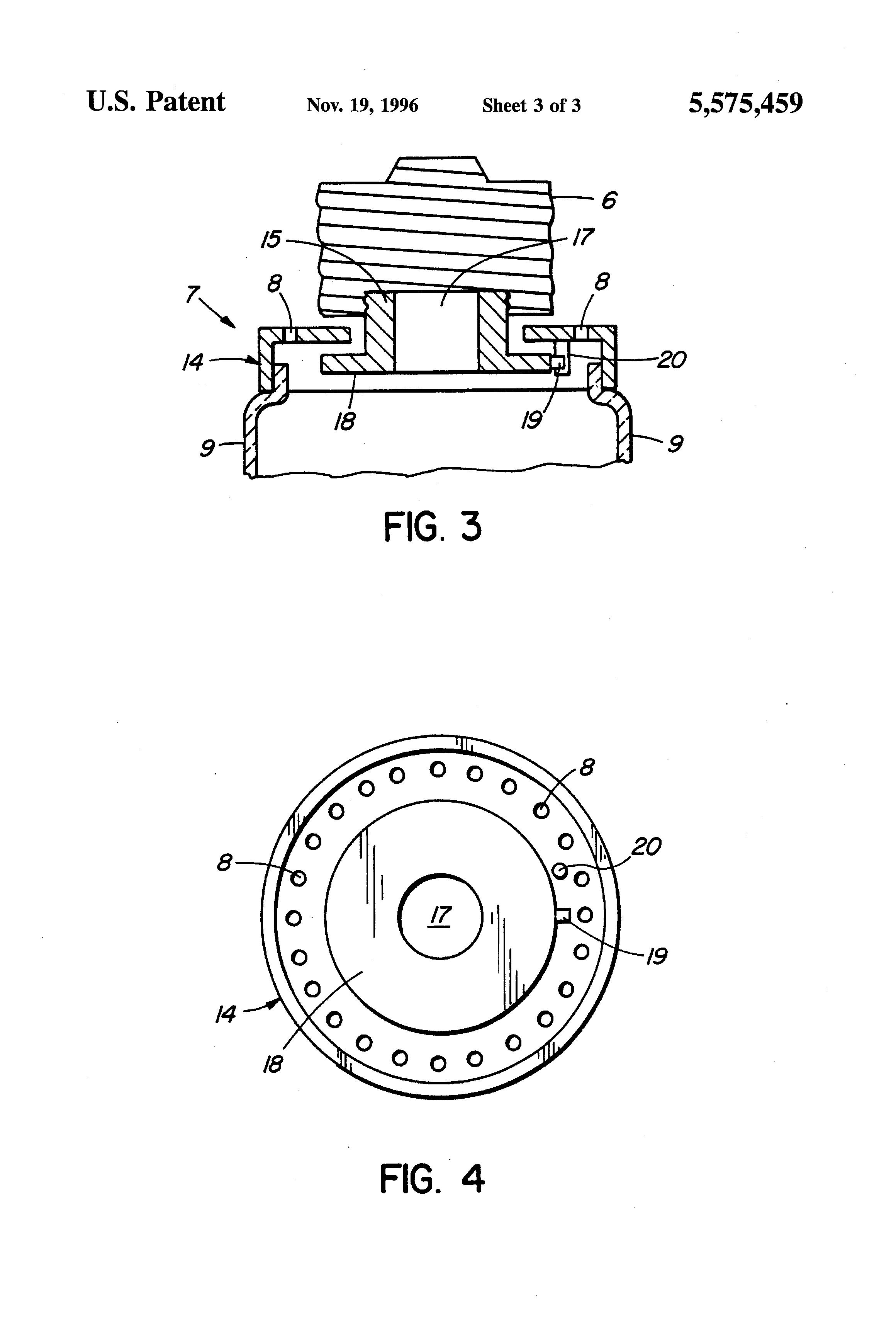 brevet us5575459 - light emitting diode lamp