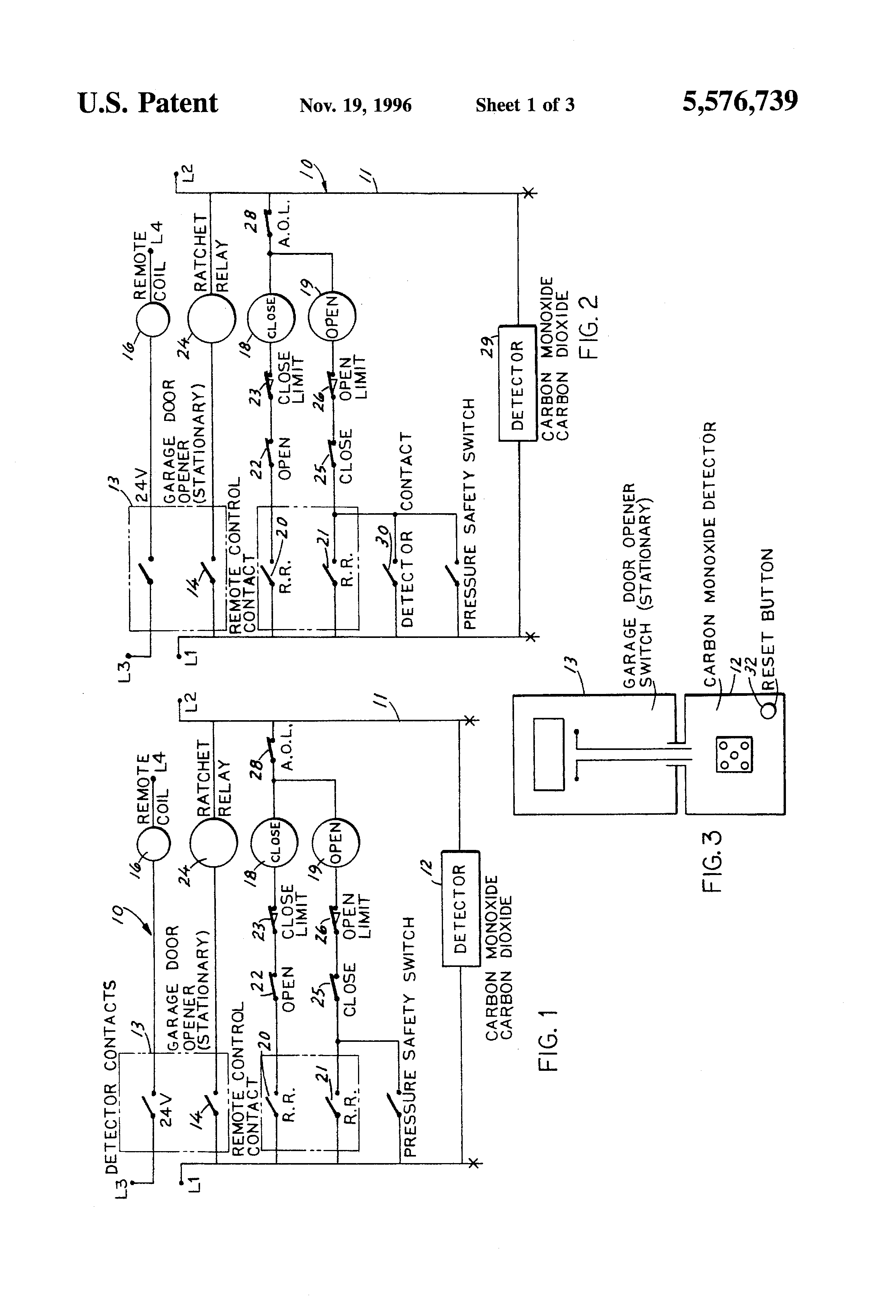 Patent Us5576739 Carbon Monoxide Safety System Google