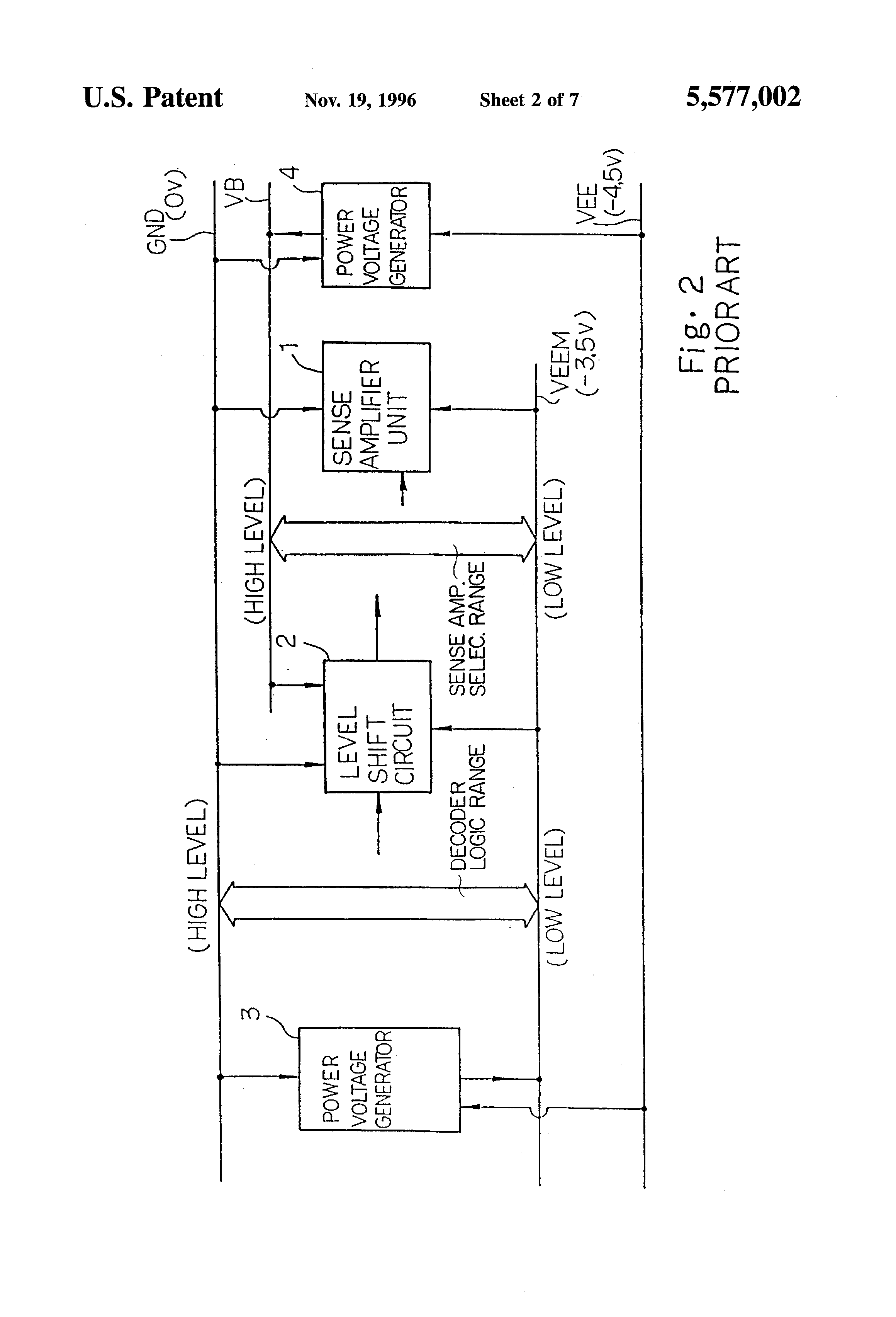 Patent Us5577002 Semiconductor Integrated Circuit Device Logic 7 Amp Diagram Drawing