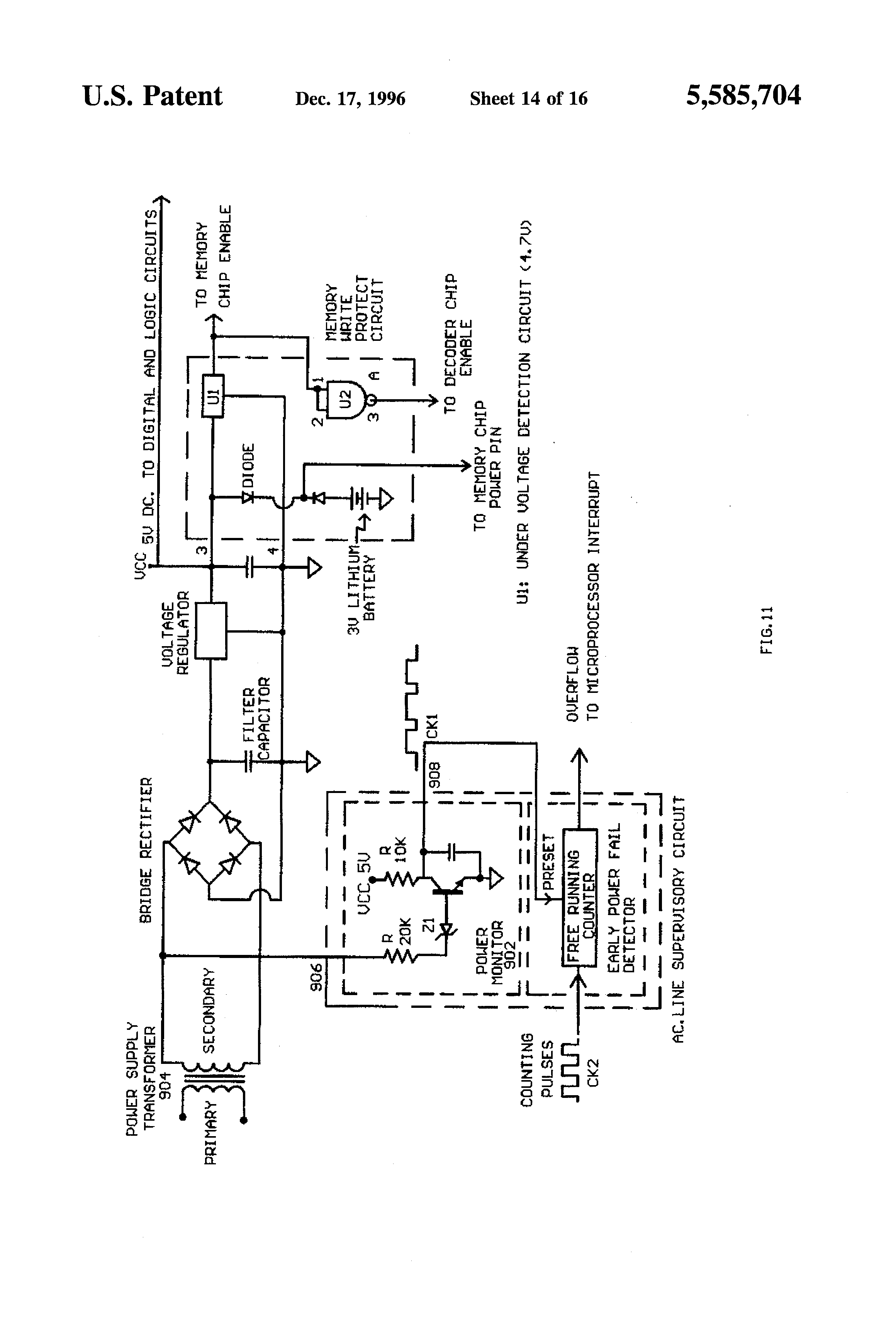 patent us5585704 - computer means for commercial washing machines