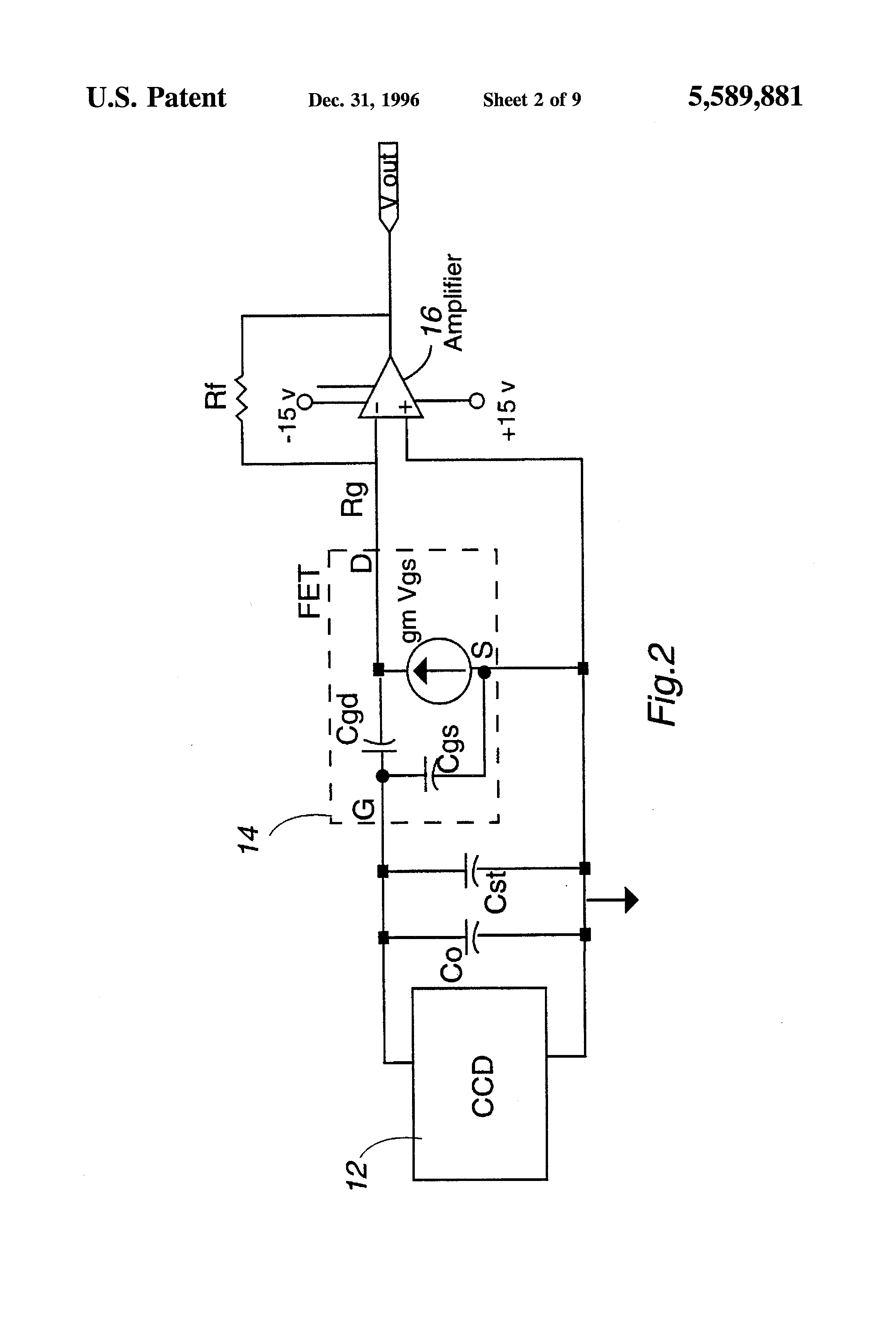 Common Source Jfet Amplifier Circuit Patent Us5589881 Enhanced Performance Ccd Output Drawing