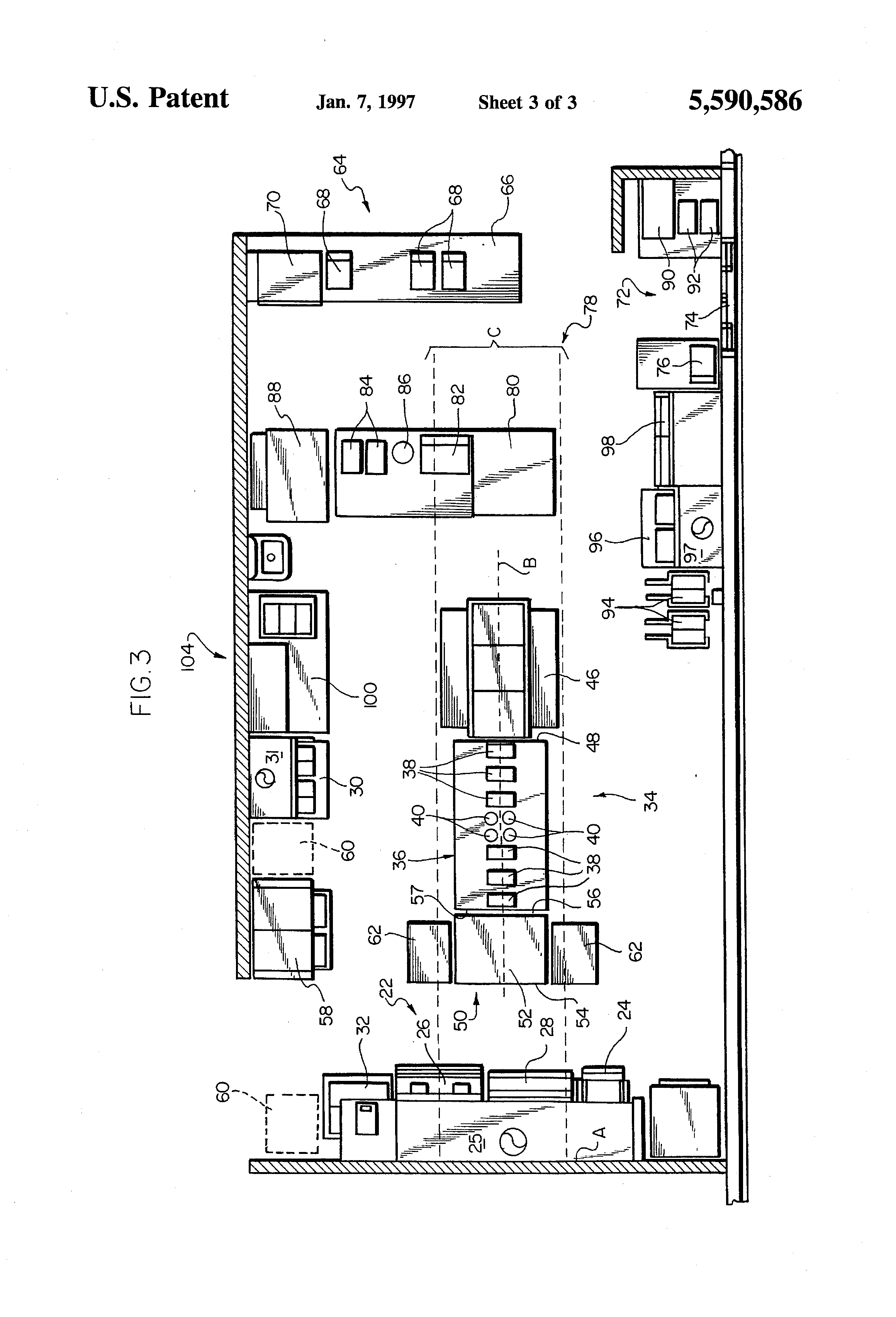 Patent Us5590586 Kitchen Layout System Google Patents